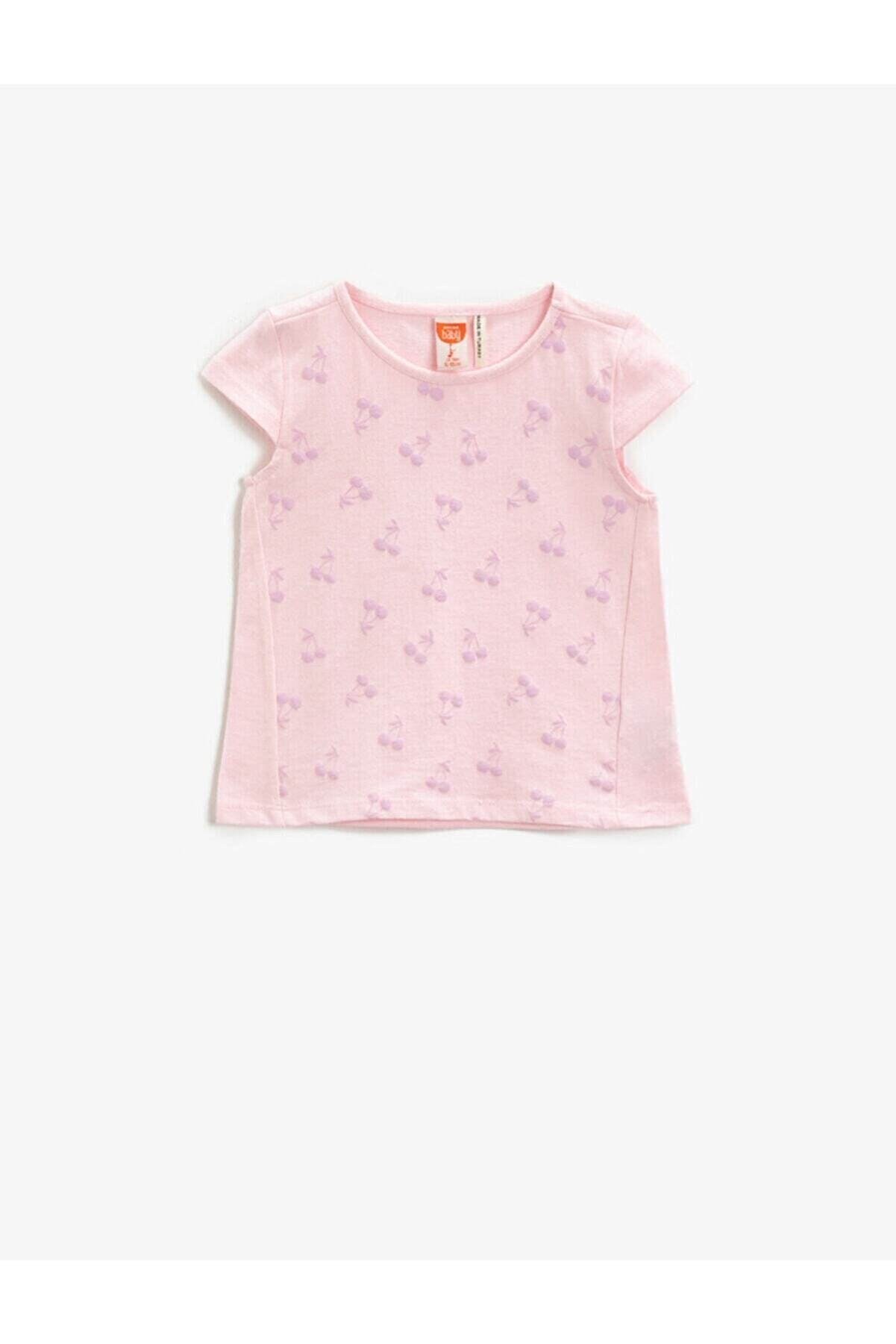 Koton Kız Bebek Pembe T-Shirt