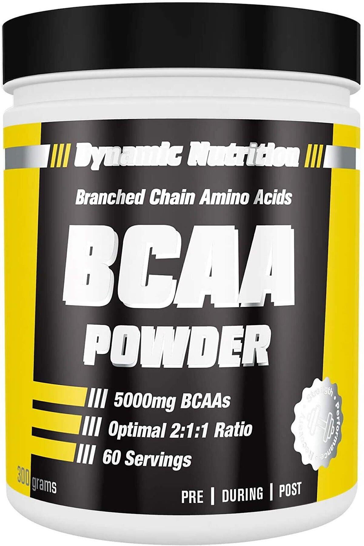 Dynamic Nutrition Dynamic Bcaa Powder Pure 2:1:1 saf aromasız 300 gr -60 Porsiyon