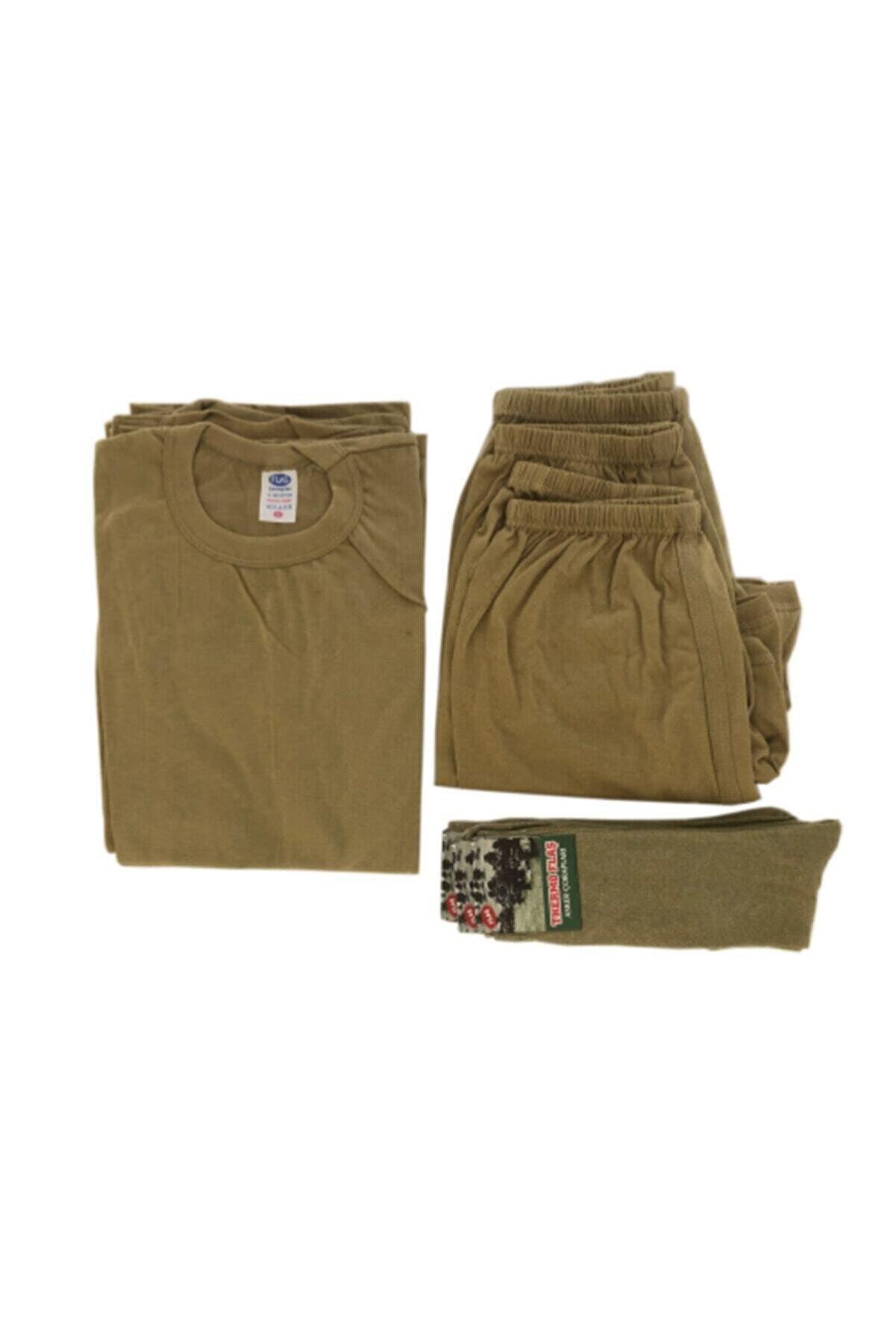 özmertaskerimalzeme Askeri Fanila Boxer Çorap 3 Lü Set Yeni Tip Askeri Fanila Çamaşır Takım