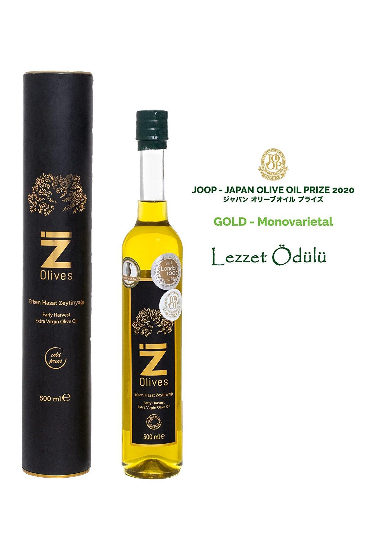 İZ Olives Ödüllü Erken Hasat Soğuk Sıkım Mut Zeytinyağı 500 ml