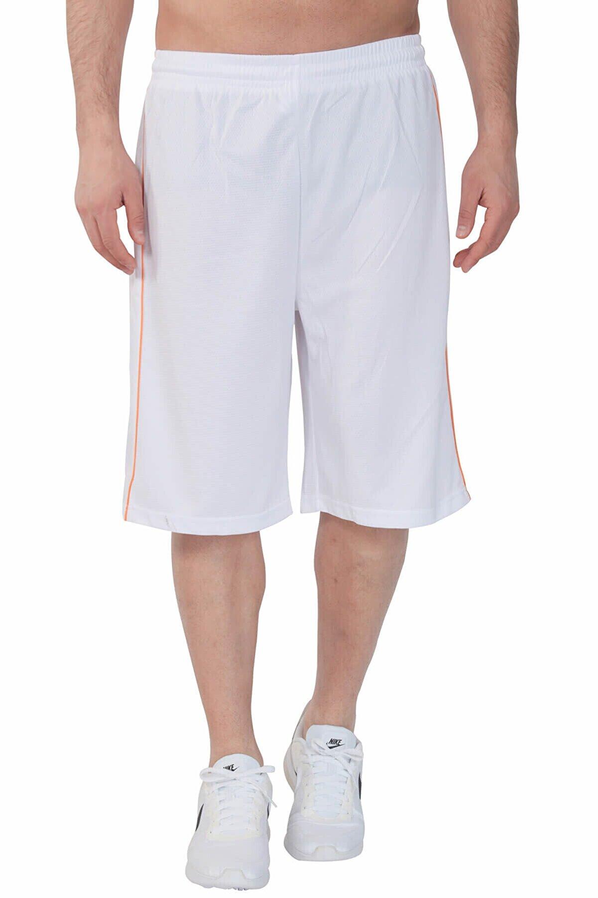 Sportive Tiger Erkek Beyaz Basketbol Şortu 500075-0bt