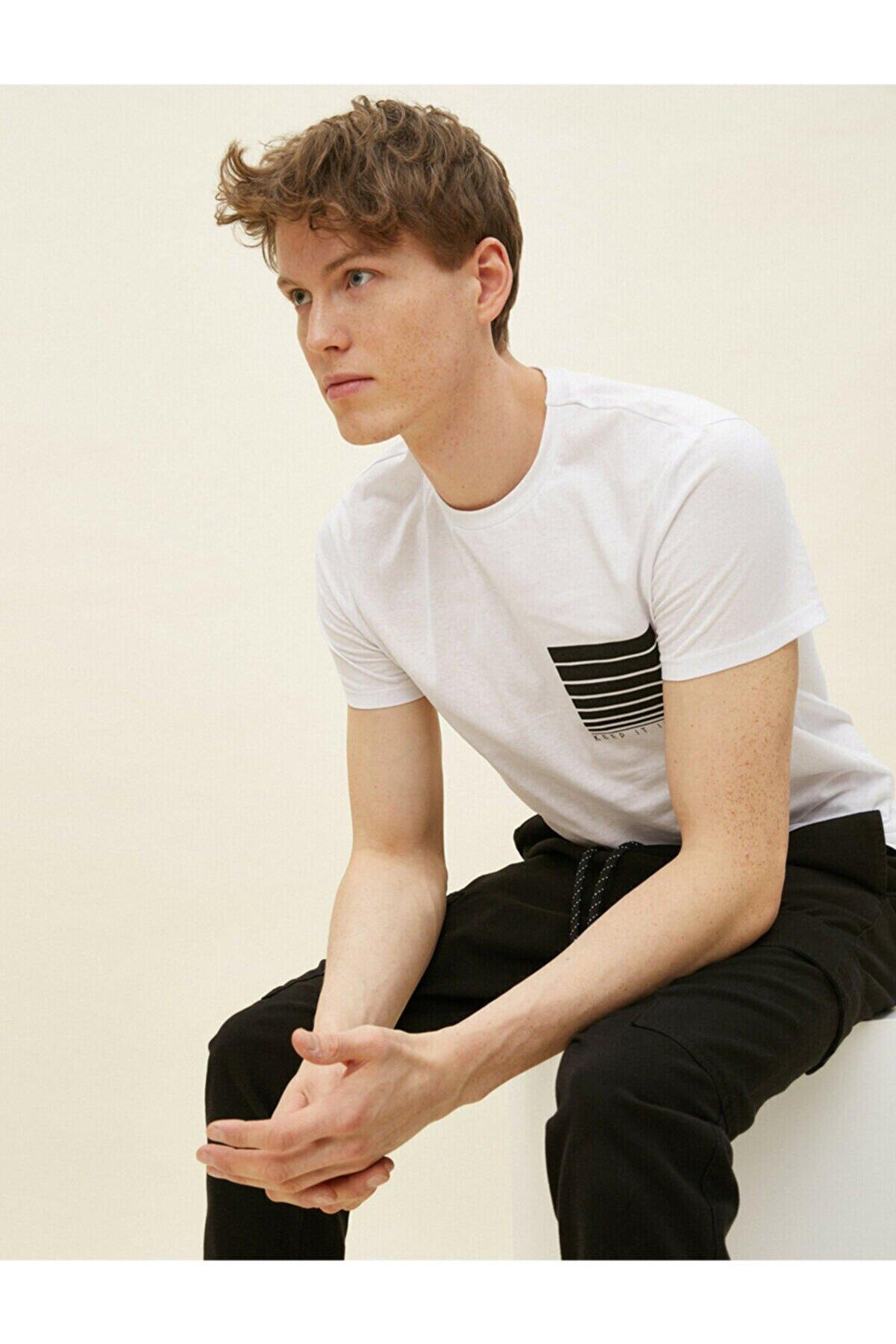 Koton Erkek Beyaz T-Shirt