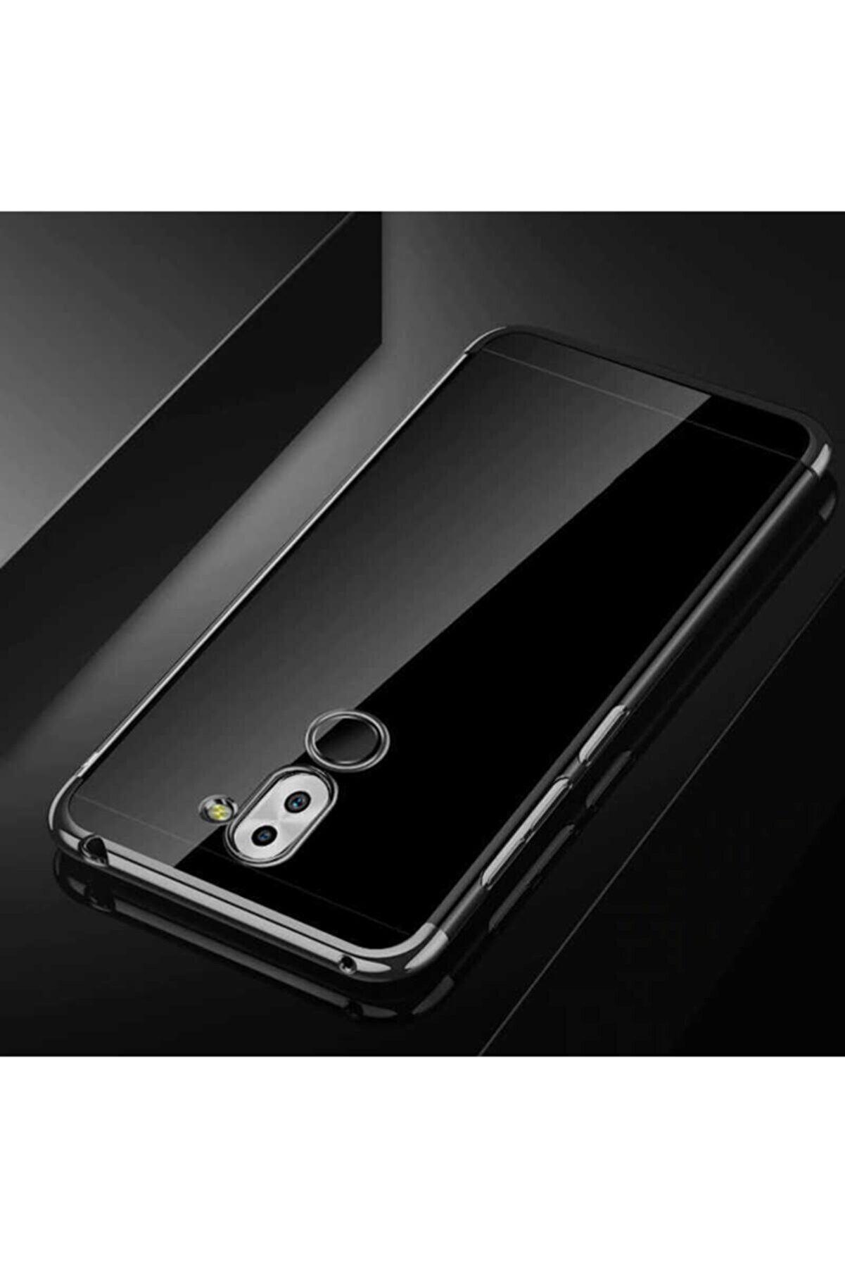 Huawei Mate 20 Lite Kılıf Lazer Boyalı Renkli Esnek Silikon Şeffaf