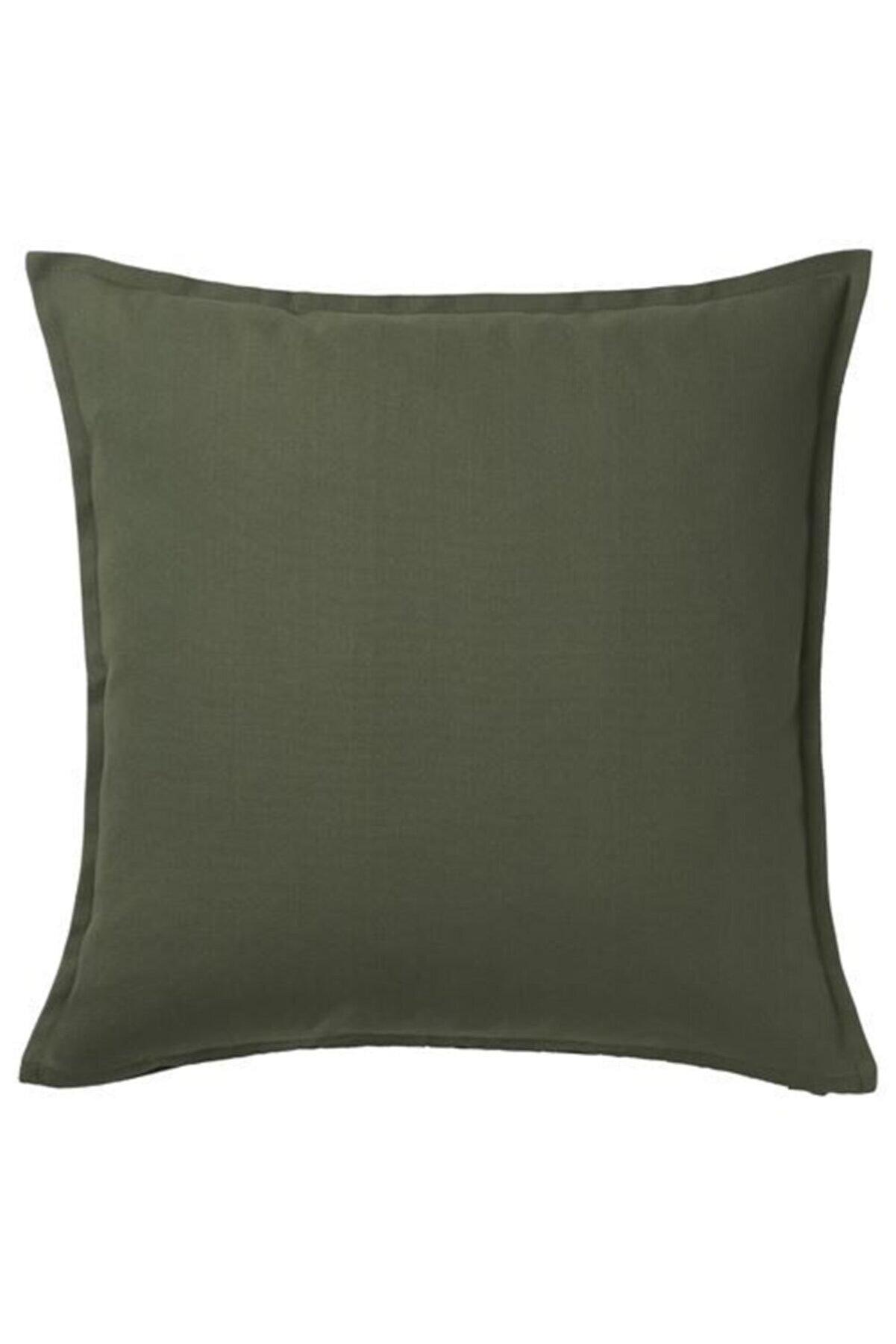 IKEA Minder Kırlent Kılıfı Meridyendukkan 50x50 Cm Haki Rengi Fermuarlı Yastık Kılıfı