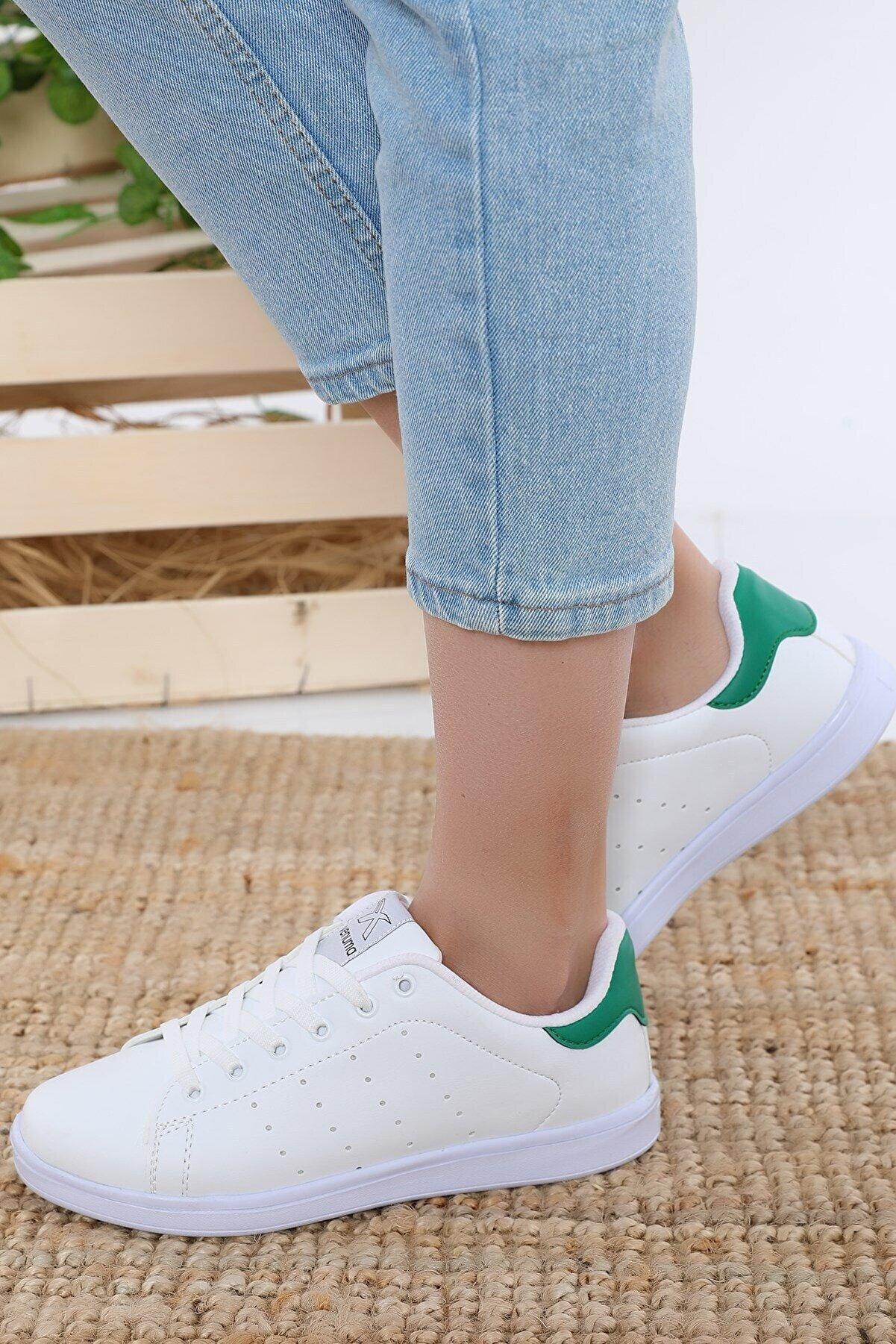AlbiShoes Albishoes Stanley Unisex Beyaz Yeşil Sneaker