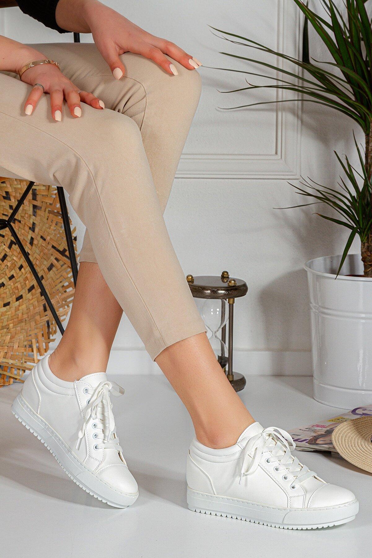 By Ramon Caliente Linda 4 Cm Gizli Ökçe Kadın Günlük Spor Ayakkabı