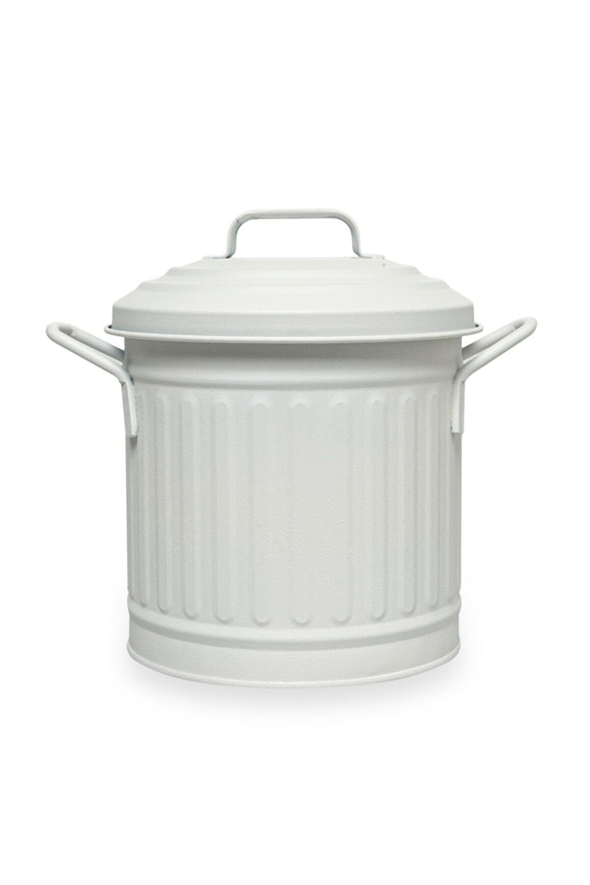 The Mia Beyaz Tezgah Çöp Kovası 4 l