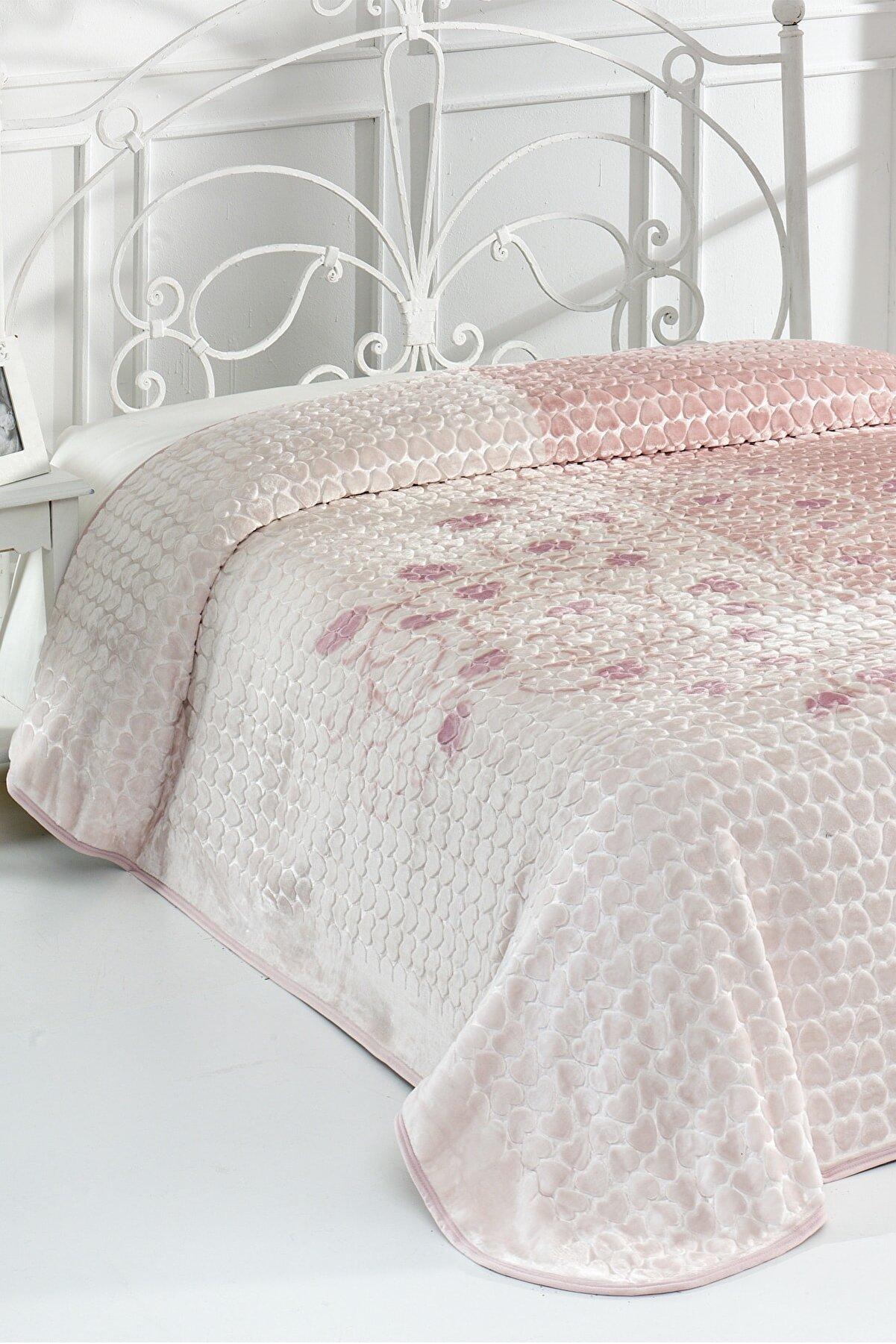 Evlen Home Roses Çift Kişilik Battaniye 220x240 Cm (b09)