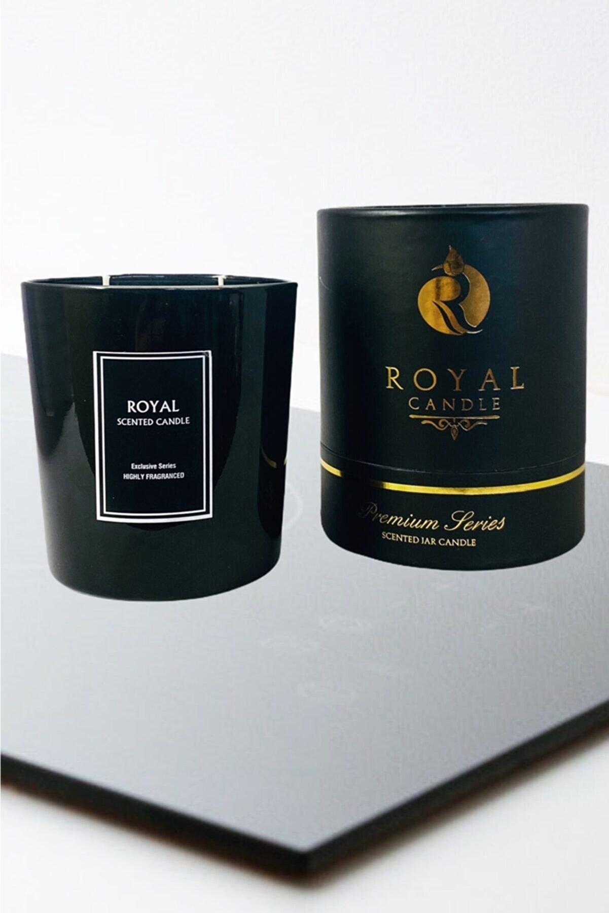 Royal Mum Lüks Serıes %100 Doğal Soywax - Büyük Boy Yoğun Kokulu- Royal Black Orchıd