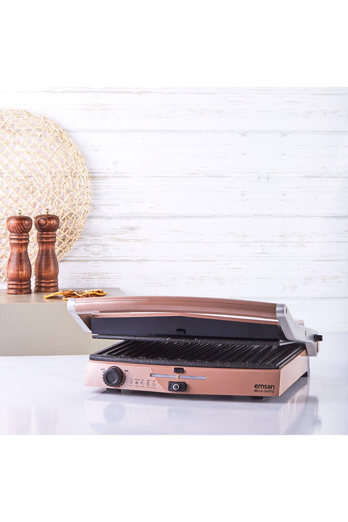Emsan Bella Gusto 6 Dilim Ekmek Kapasiteli Tost Makinesi Golden Pink