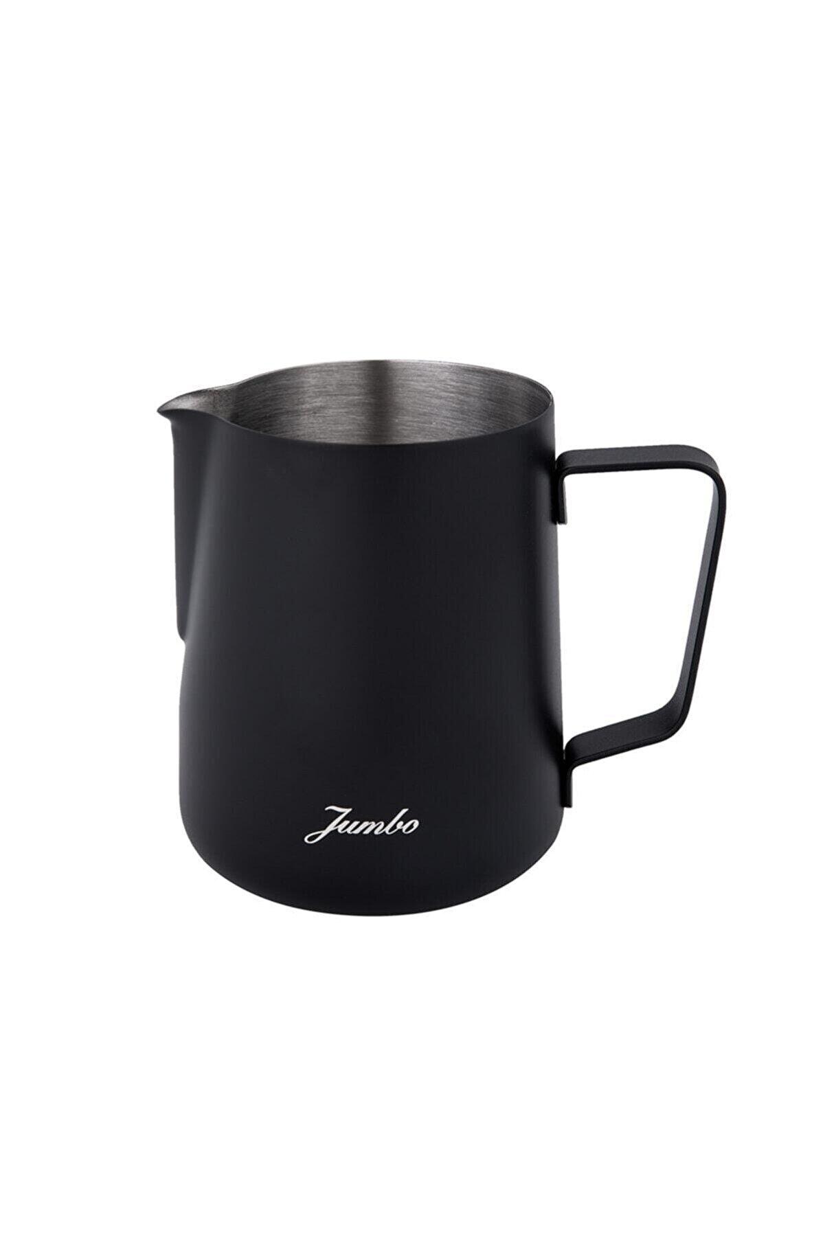 Jumbo Venti Çelik Süt Potu Siyah 600 ml