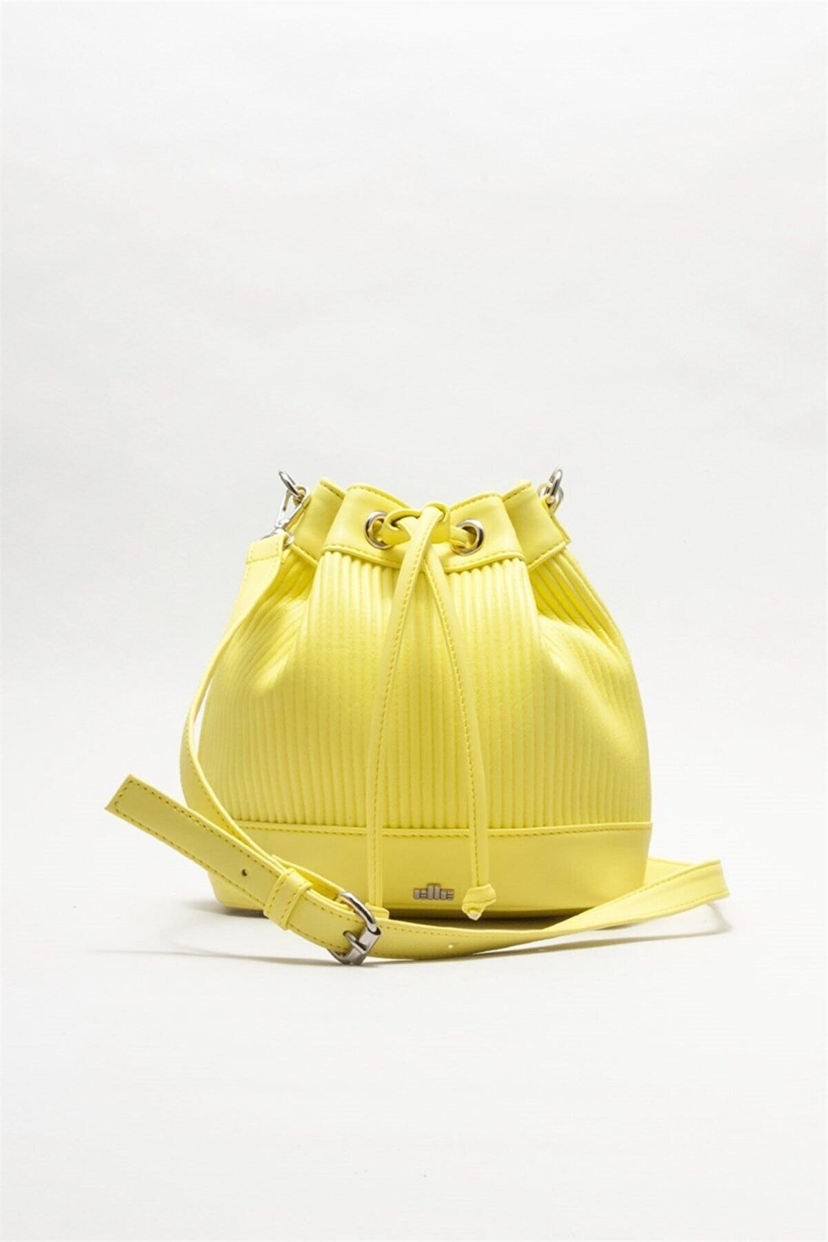 Elle Kadın Sarı Çapraz Çanta