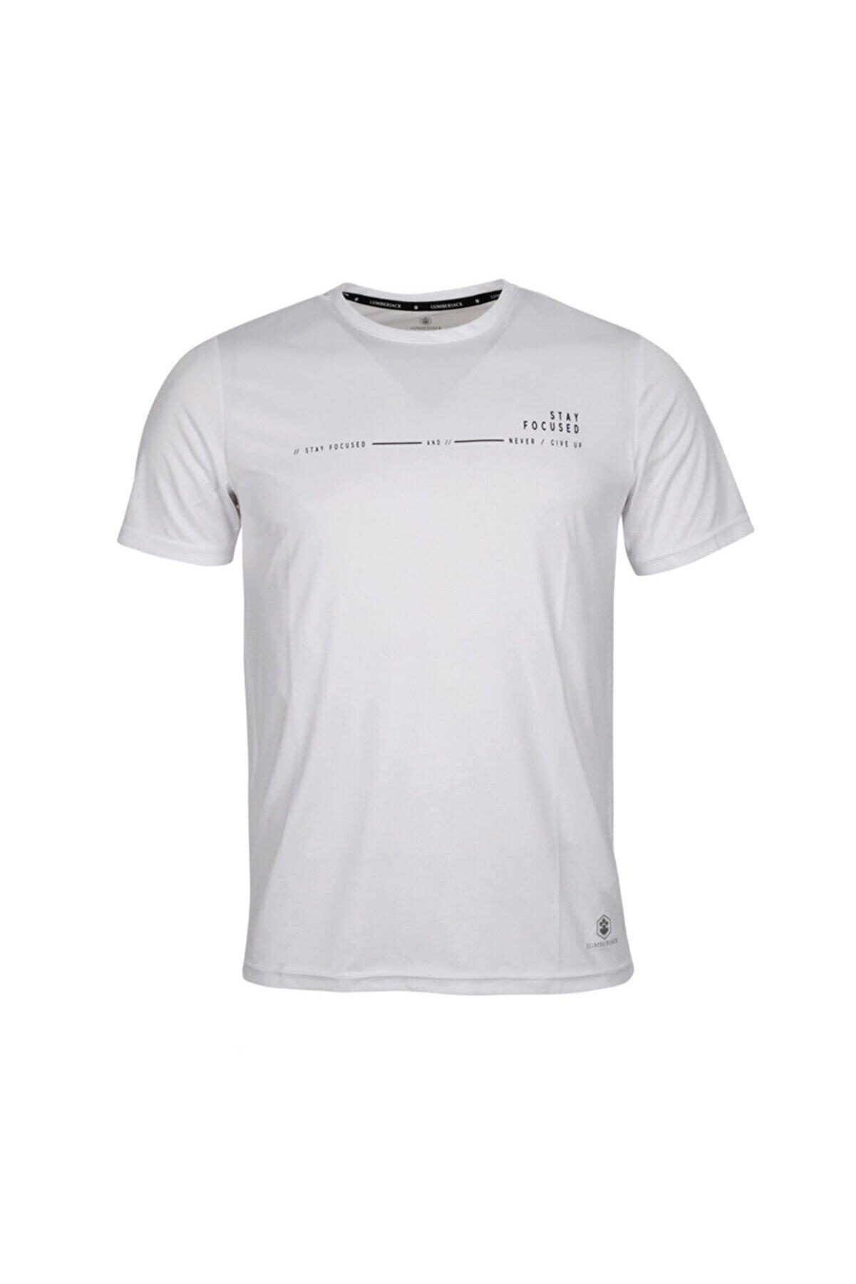 Lumberjack CT384 ARMY MINIMAL T-SHIR Beyaz Erkek T-Shirt 100582722