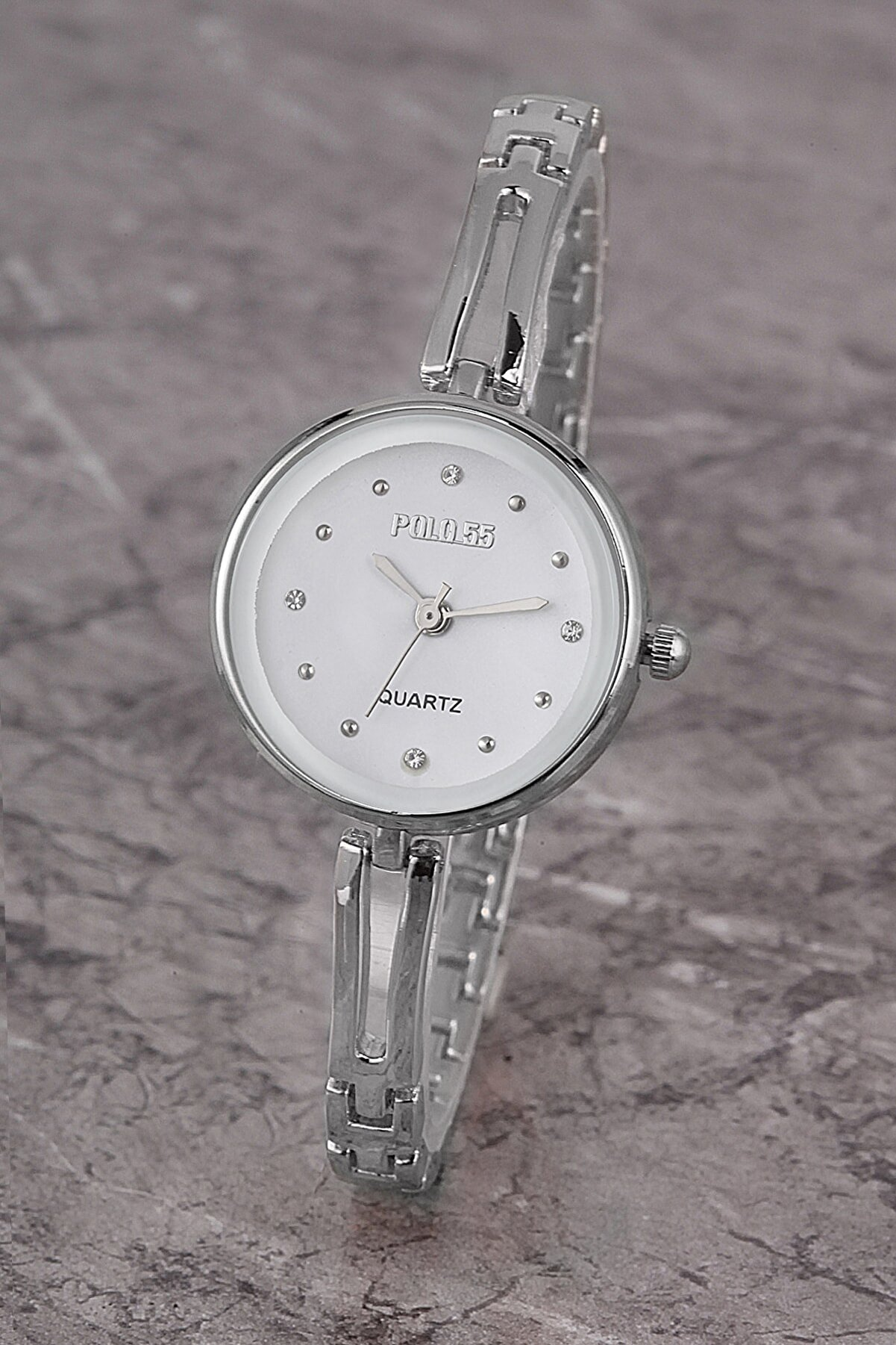 Polo55 Plkm008r03 Kadın Saat Taş Detaylı Kadran Şık Metal Kordon