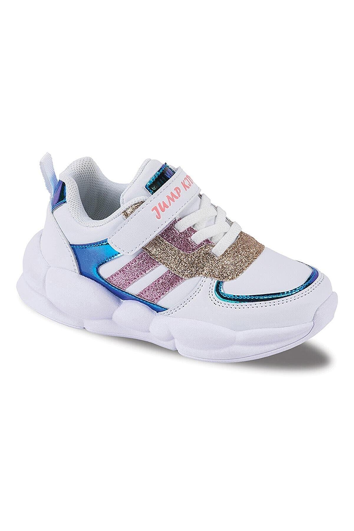 Jump 25962 Beyaz Kız Çocuk Spor Ayakkabı Beyaz-28