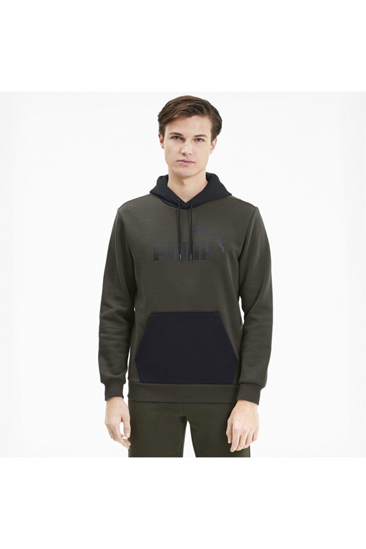 Puma Ess+ Hoody Fl Big Logo Erkek Sweatshirt 85503170