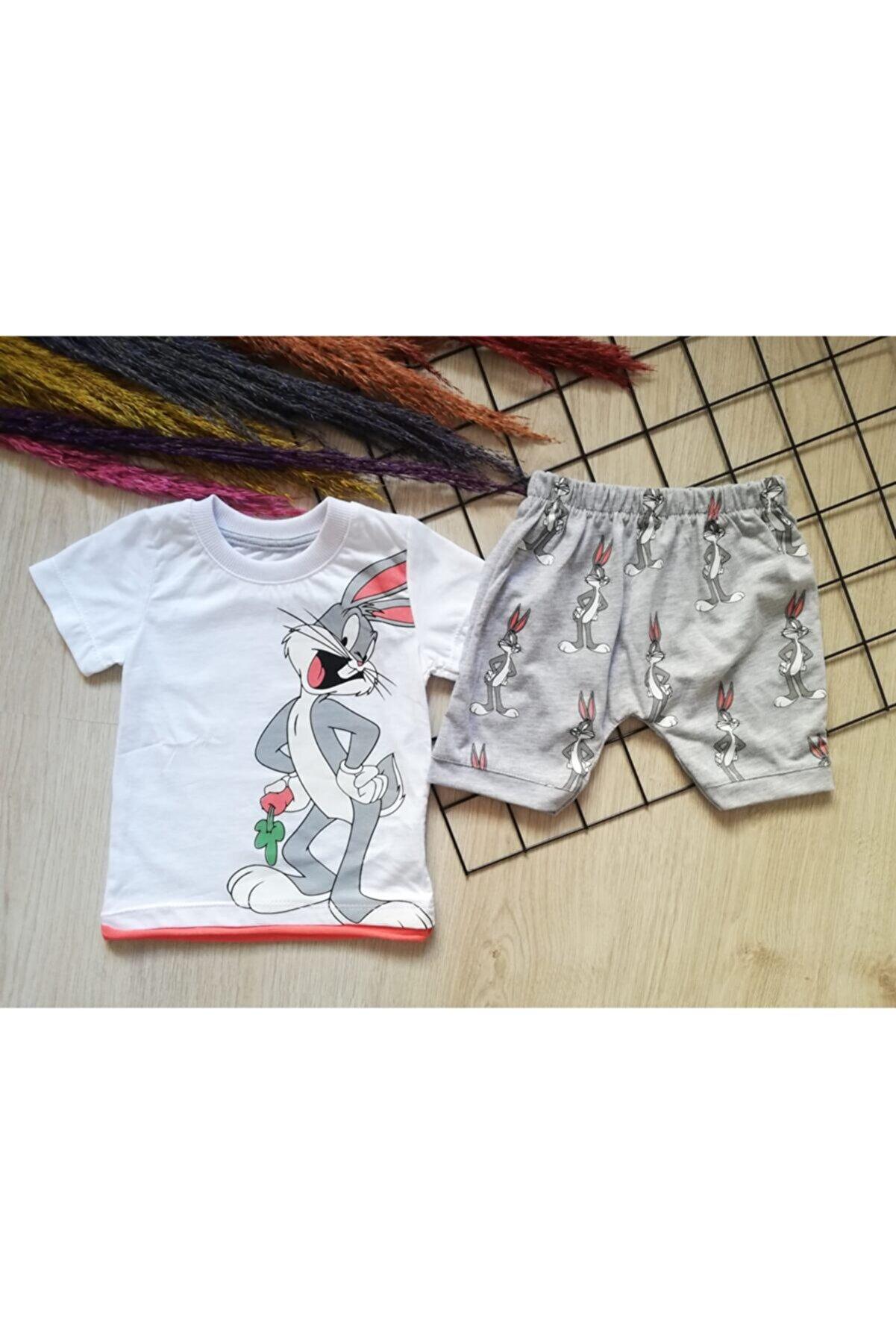 Esil Ozmo Erkek Bebek Yazlık Pamuklu Şortlu Takım