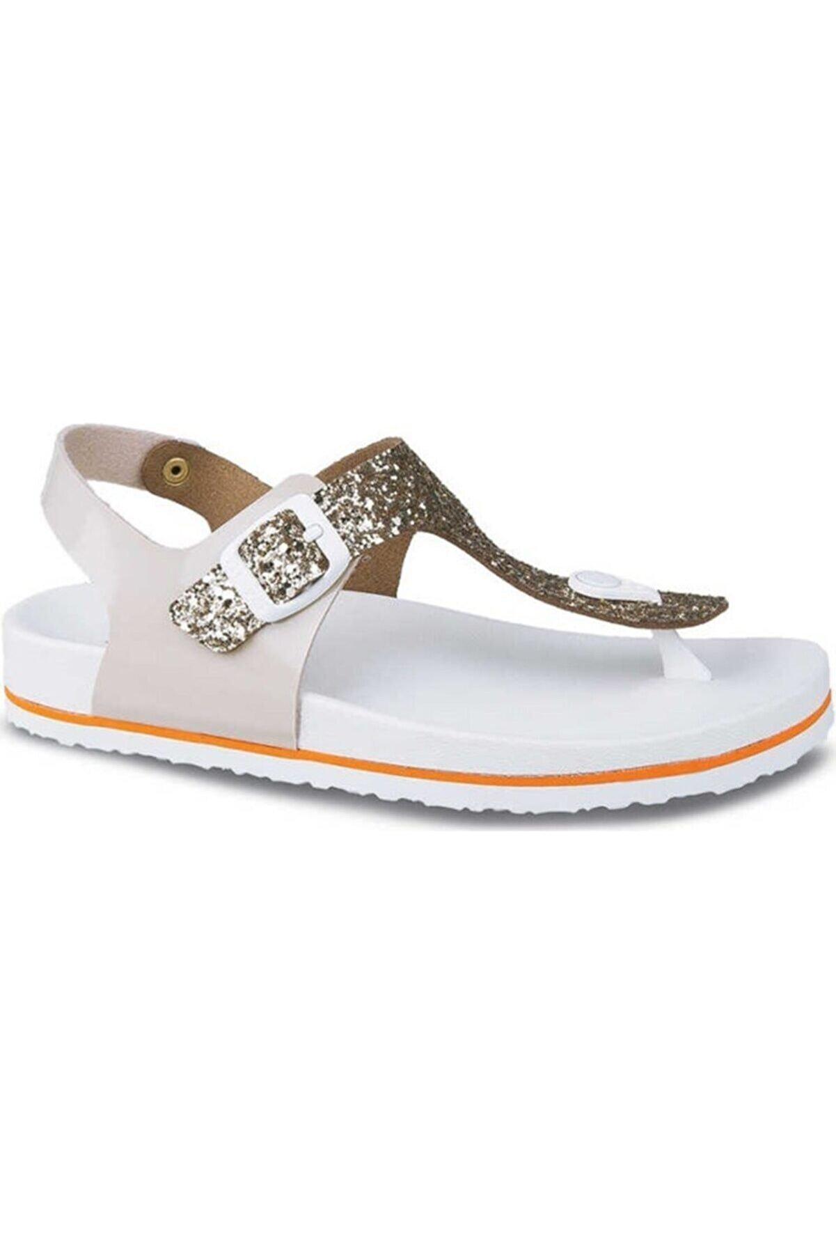Ceyo 9970-2 Beyaza Kadın Sandalet