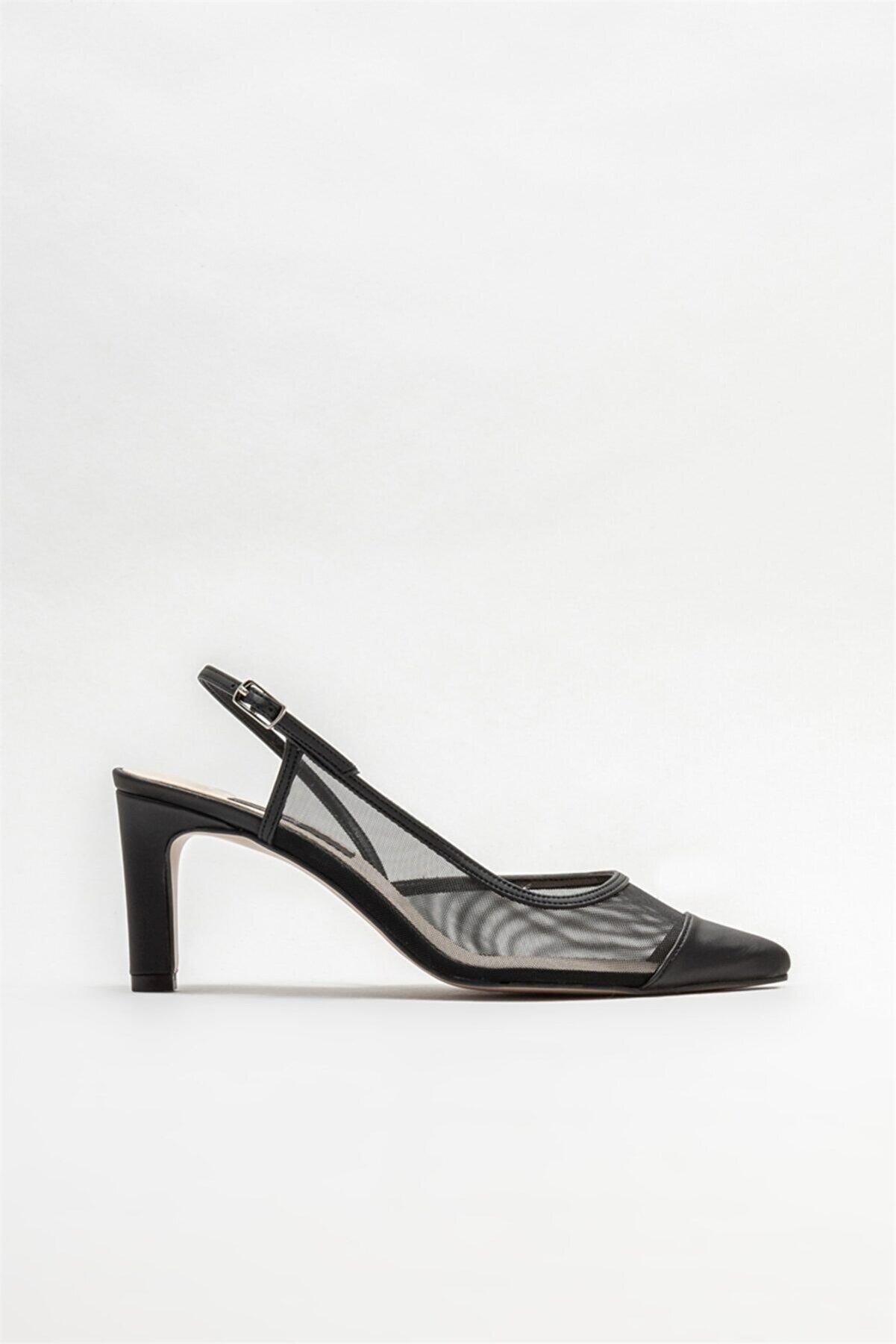 Elle Siyah Kadın Topuklu Ayakkabı