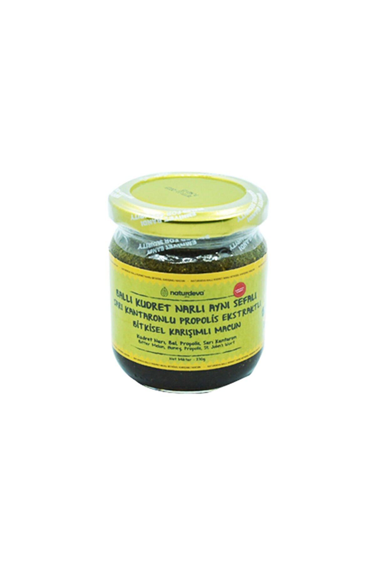 Naturdeva Ballı Kudret Narlı Aynısefalı Sarı Kantaronlu Propolisli Bitkisel Karışımlı Macun 230 Gram