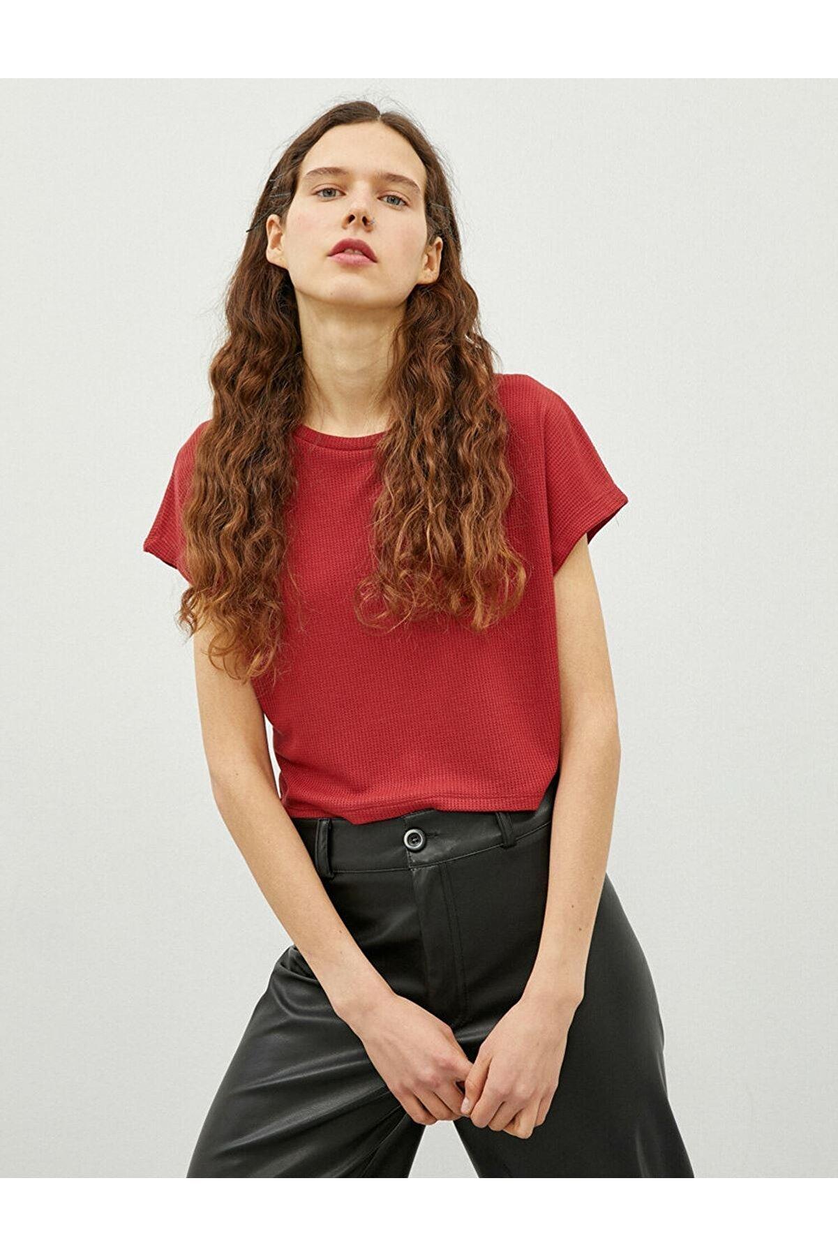 Koton Kadın Kiremit-97412 T-Shirt
