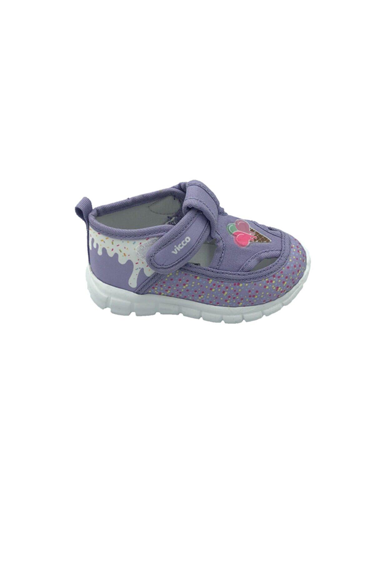 Vicco Kız Çocuk Lila Keten Ayakkabı