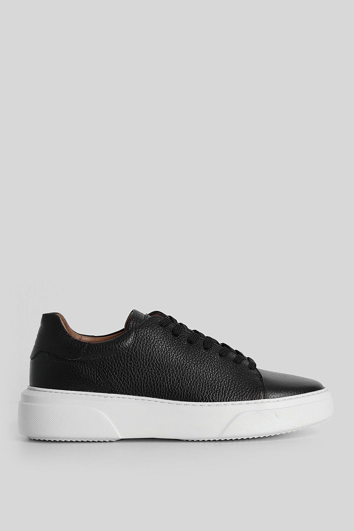 Lufian Tommy Deri Sneaker Siyah