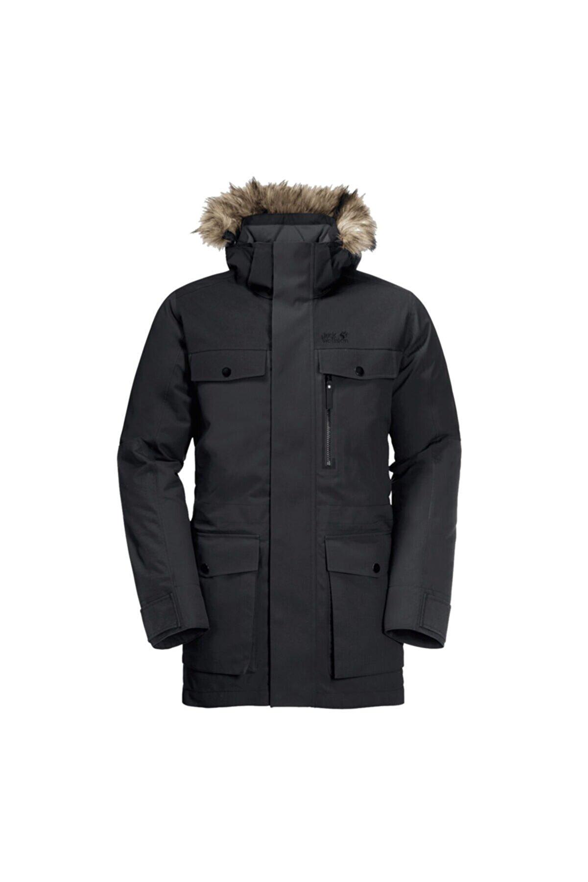 Jack Wolfskin Erkek Siyah Glacier Bay Outdoor Parka 1113321-6000