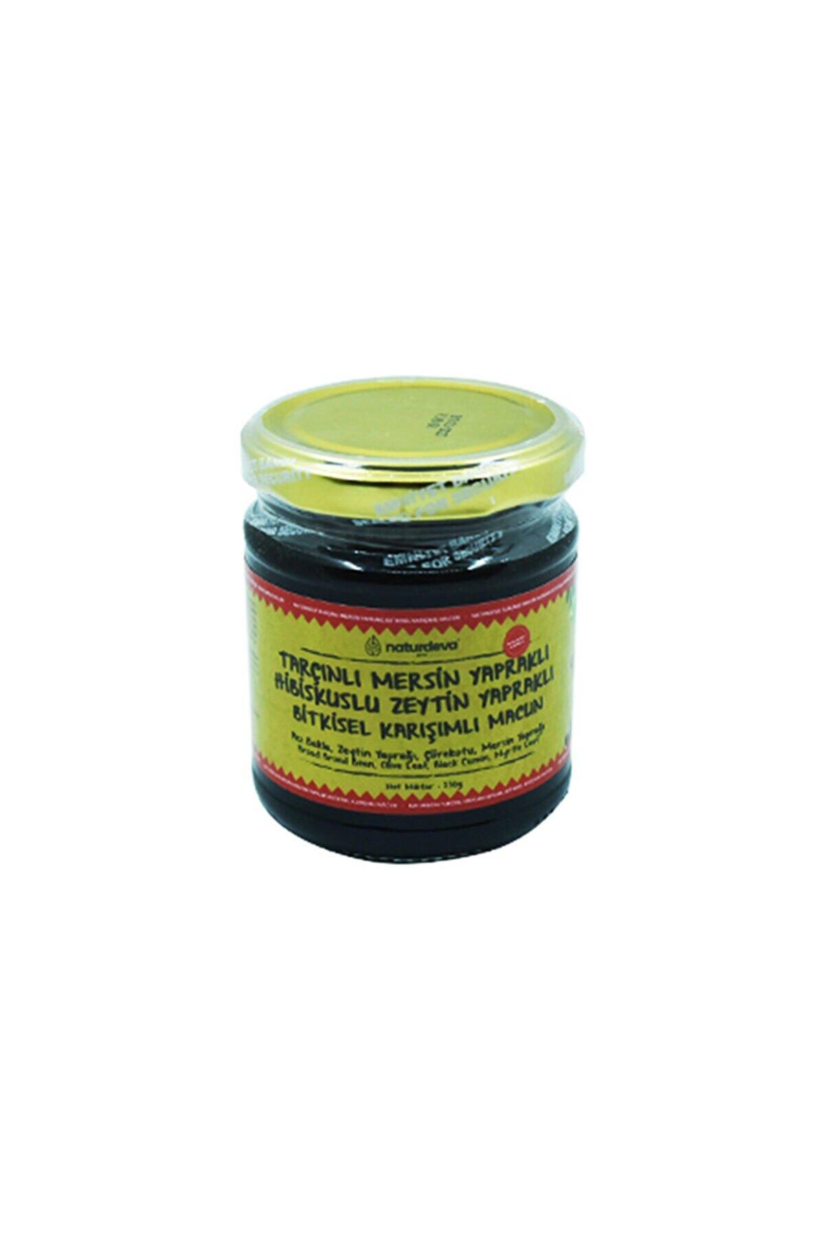 Naturdeva Tarçınlı Mersin Yapraklı Hibuskuslu Zeytin Yapraklı Bitkisel Karışımlı Macun 230 Gram