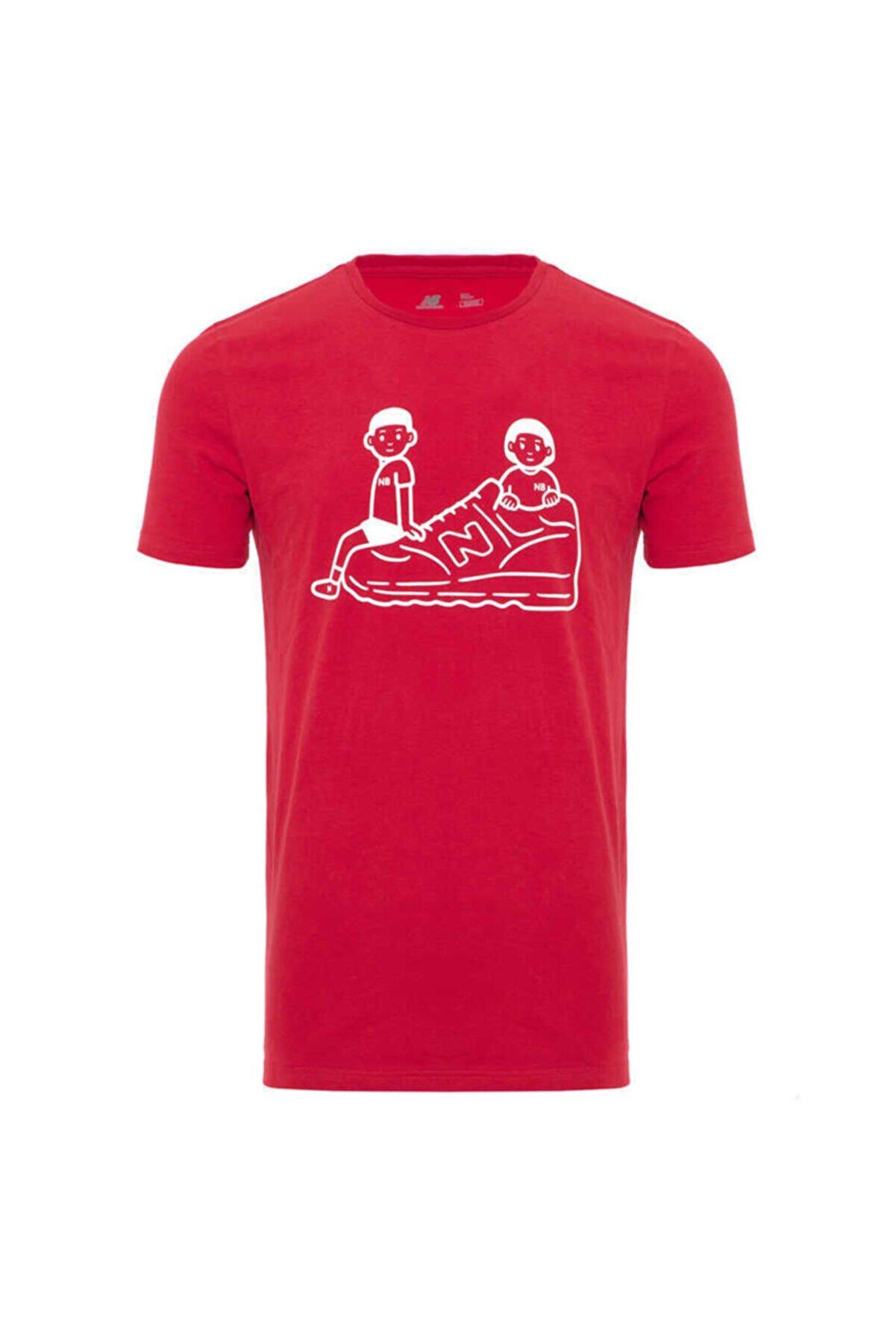 New Balance Erkek  Kırmızı T-Shirt