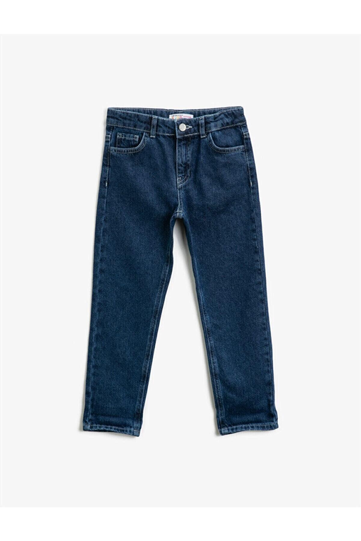 Koton Kız Çocuk Orta Indigo Jeans 1YKG47754OD