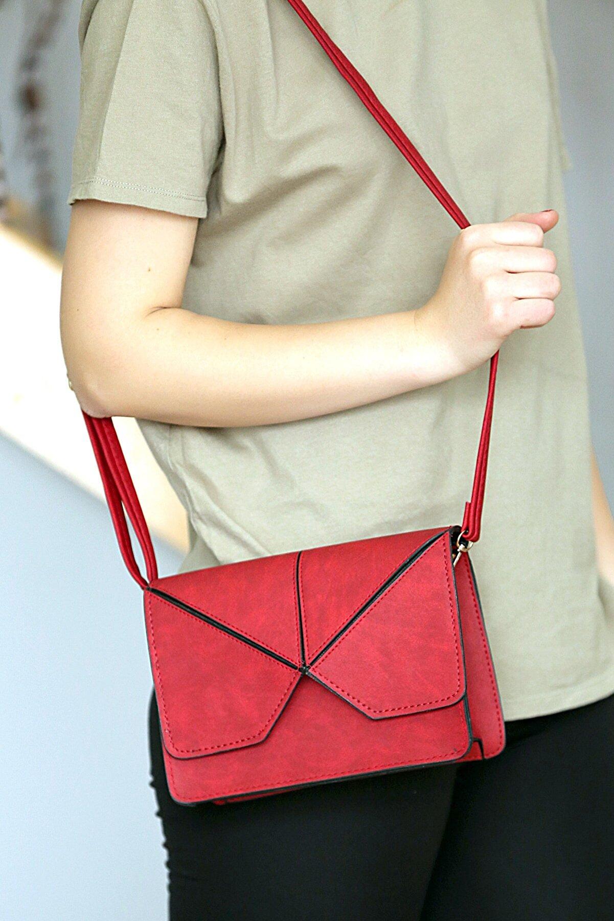 WMİLANO Kırmızı Kadın Omuz Çantası