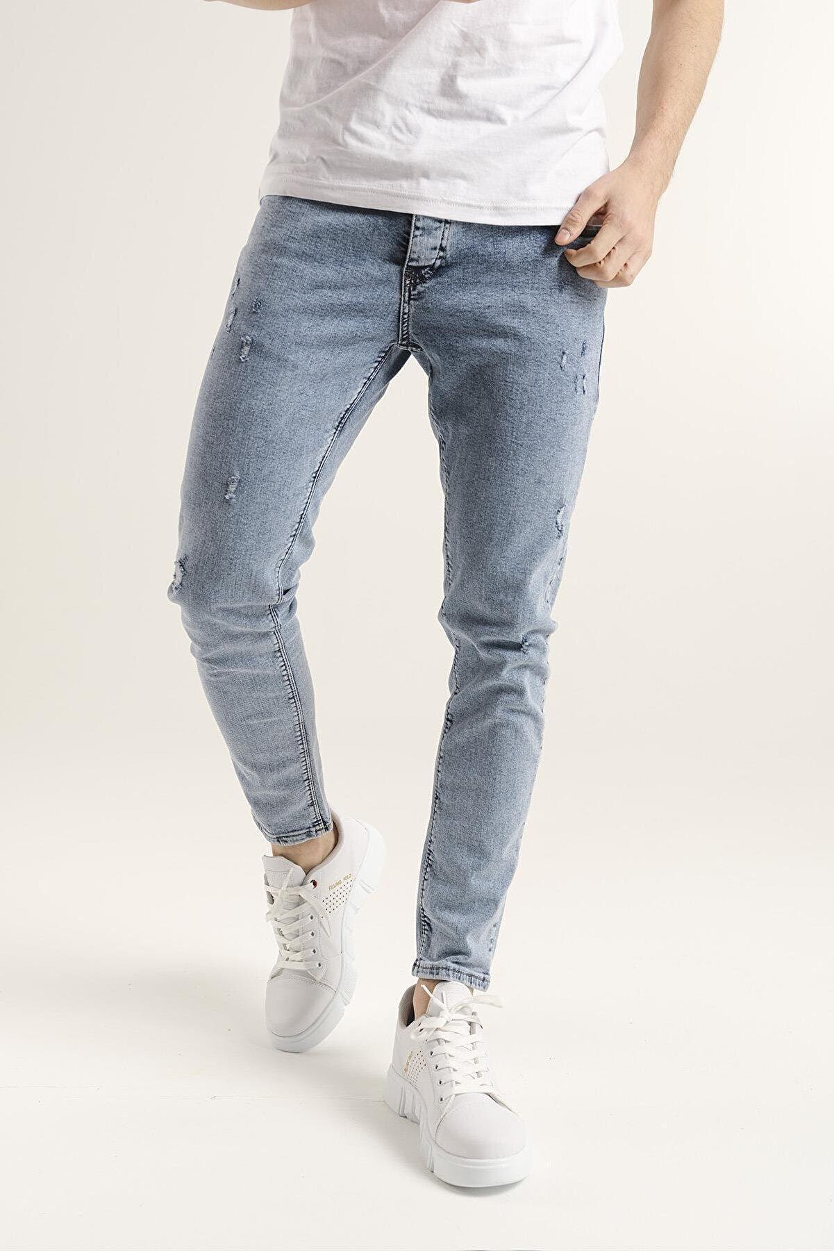 Oksit Reax 301 Slim Fit Likralı Erkek Jean Pantolon