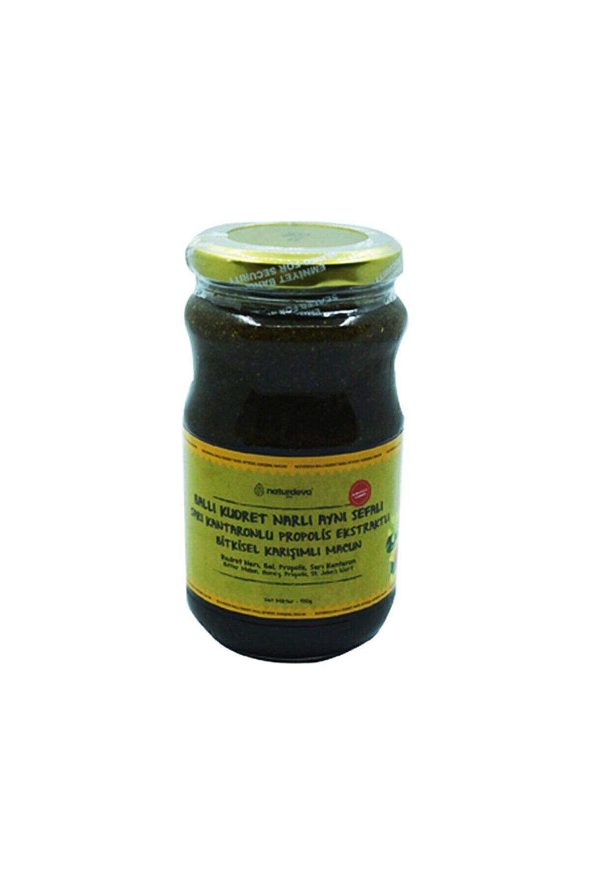 Naturdeva Ballı Kudret Narlı Aynısefalı Sarı Kantaronlu Propolisli Bitkisel Karışımlı Macun 450 Gr