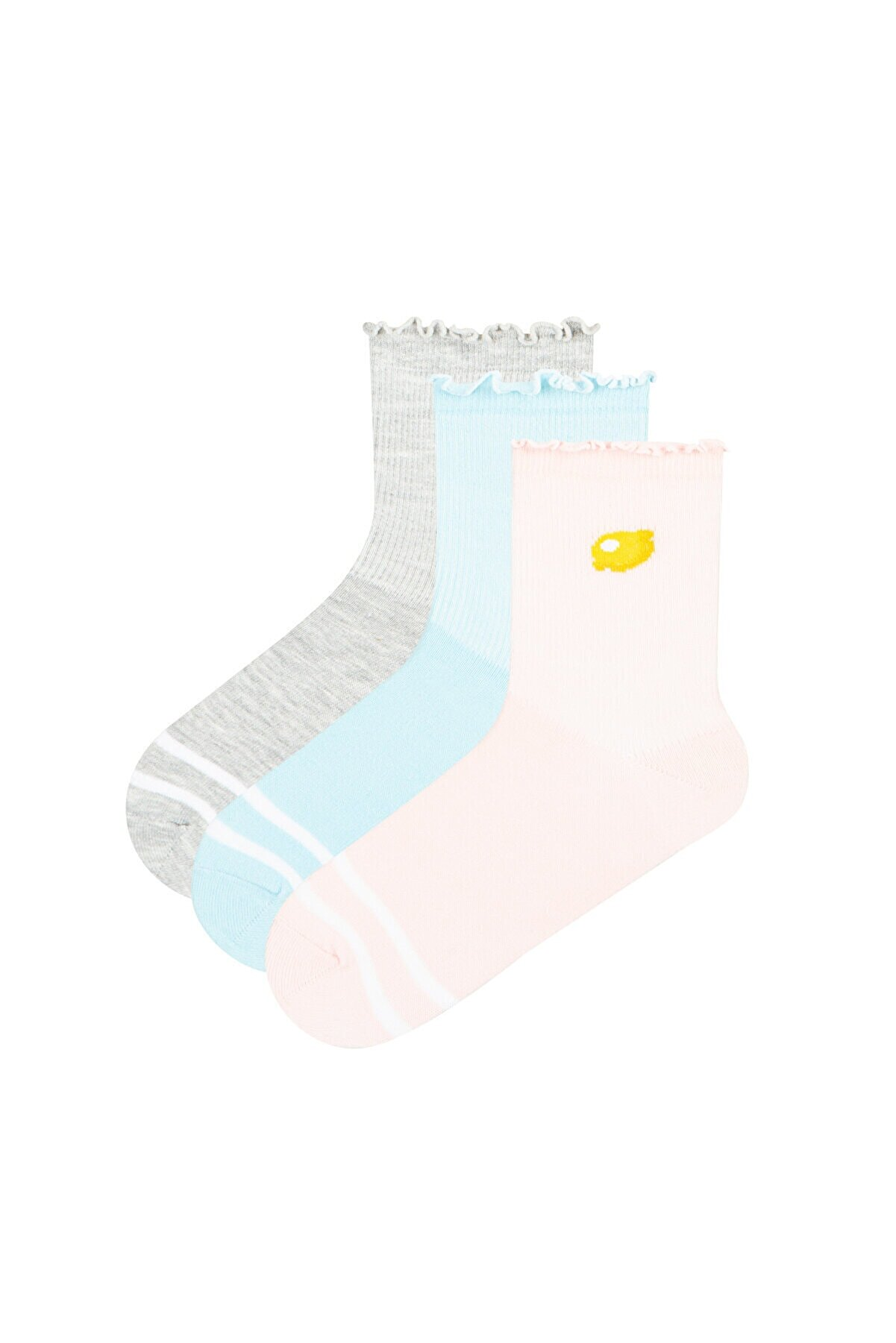 Penti Çok Renkli Happy Fruıts Çorap  3lü