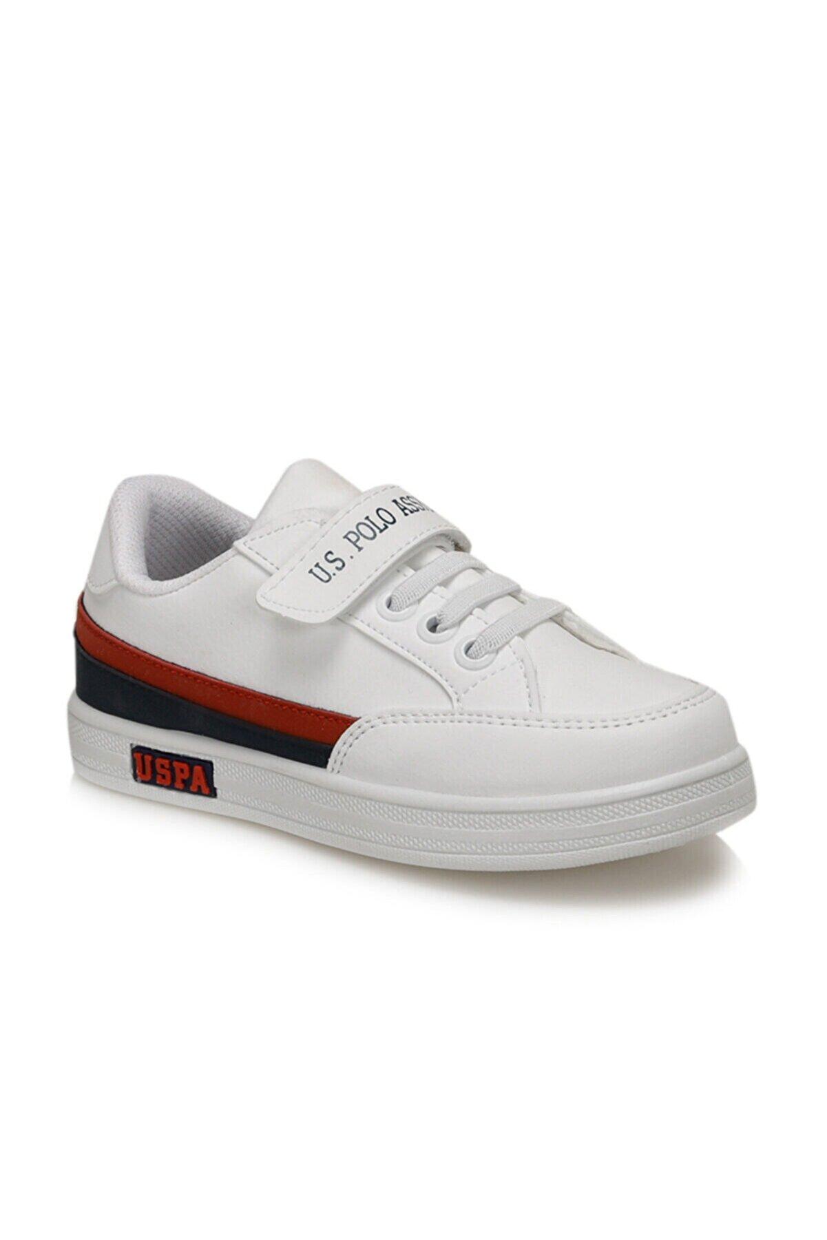 US Polo Assn JAMAL 9PR Beyaz Erkek Çocuk Sneaker Ayakkabı 100429395