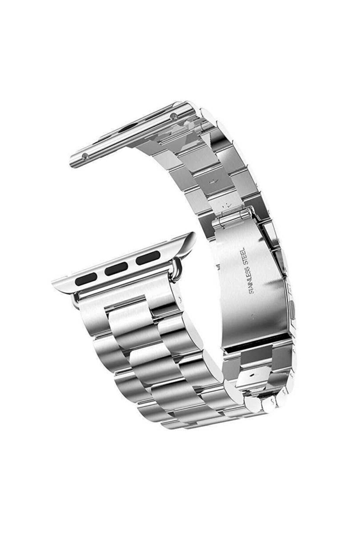 Apple Watch Se Kordon Çelik Klipsli Metal Malzemeli 42mm Krd-04