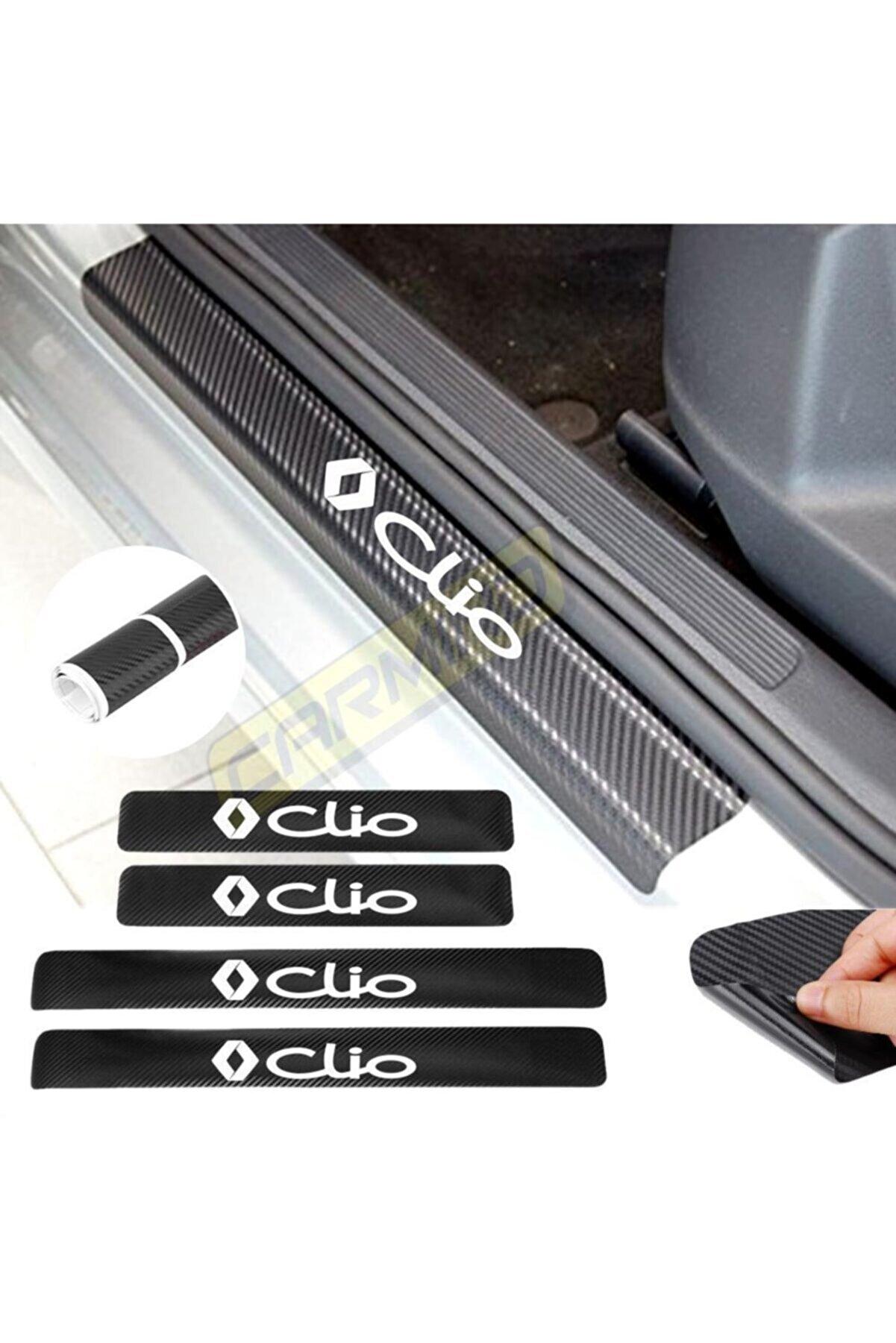 Carmind Renault Clio Karbon Kapı Eşiği Sticker 4 Adet