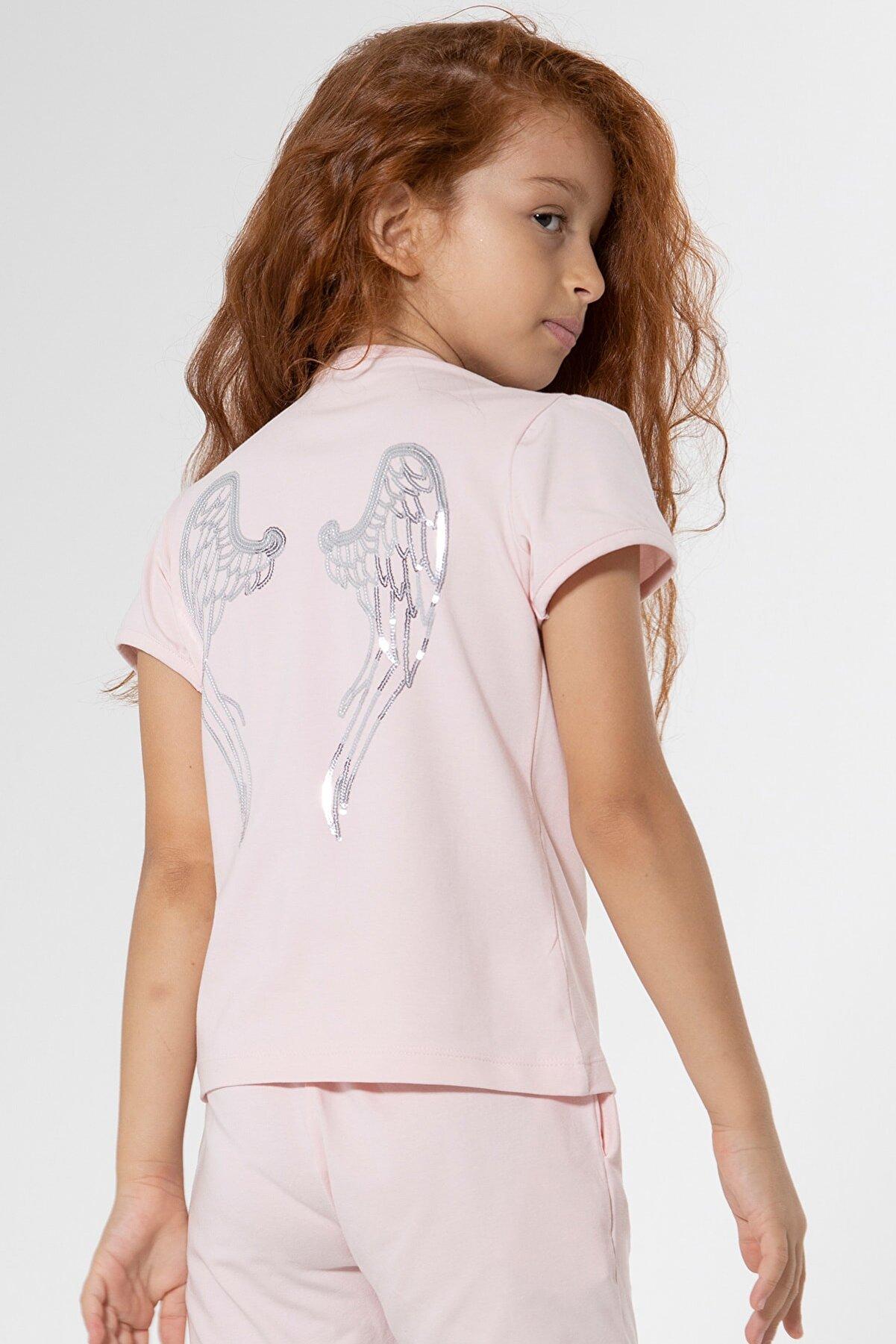 Colorinas Melek Kanatlı Tshirt Angel Pembe