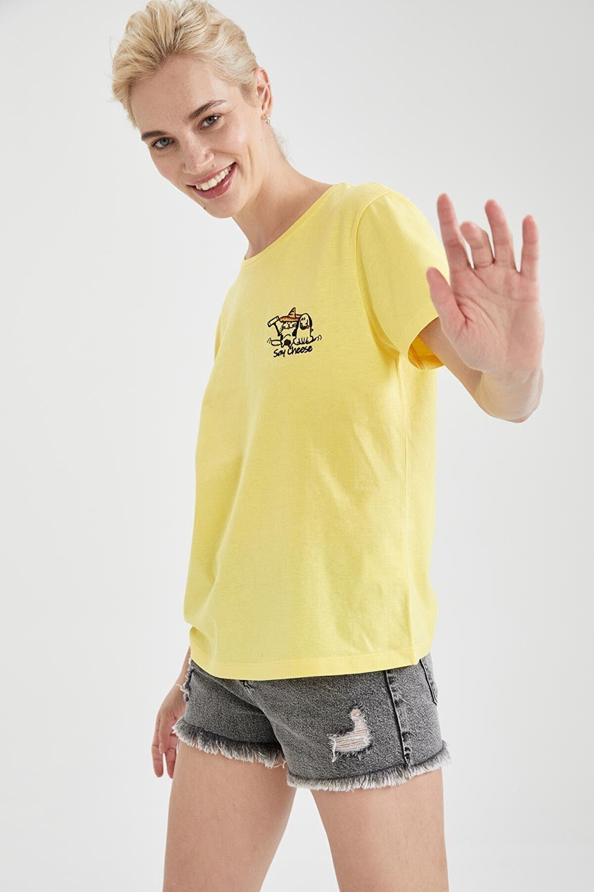 Defacto Coool Baskılı Oversize Fit Kısa Kollu Tişört