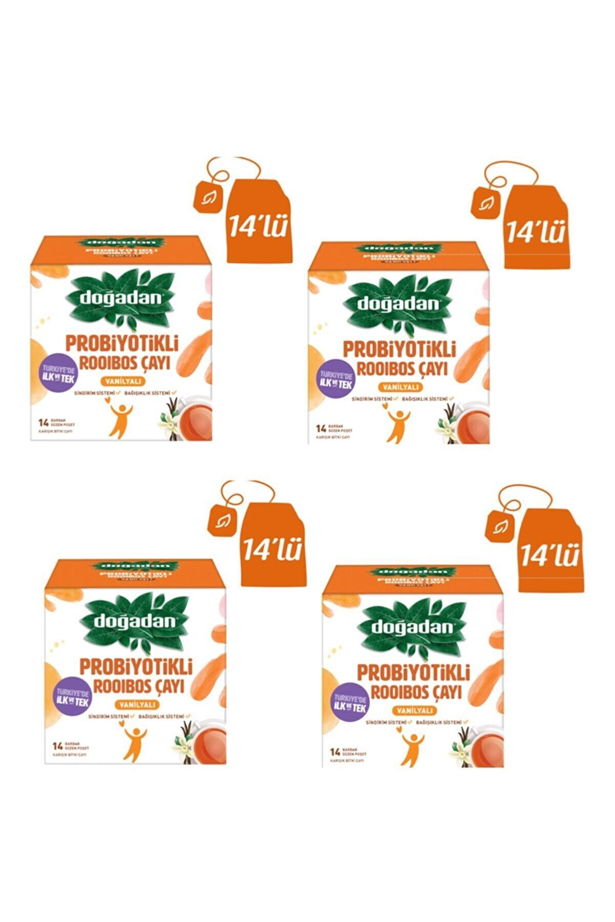 Doğadan Probiyotikli Rooibos Çayı Vanilyalı 56lı 4 Paket