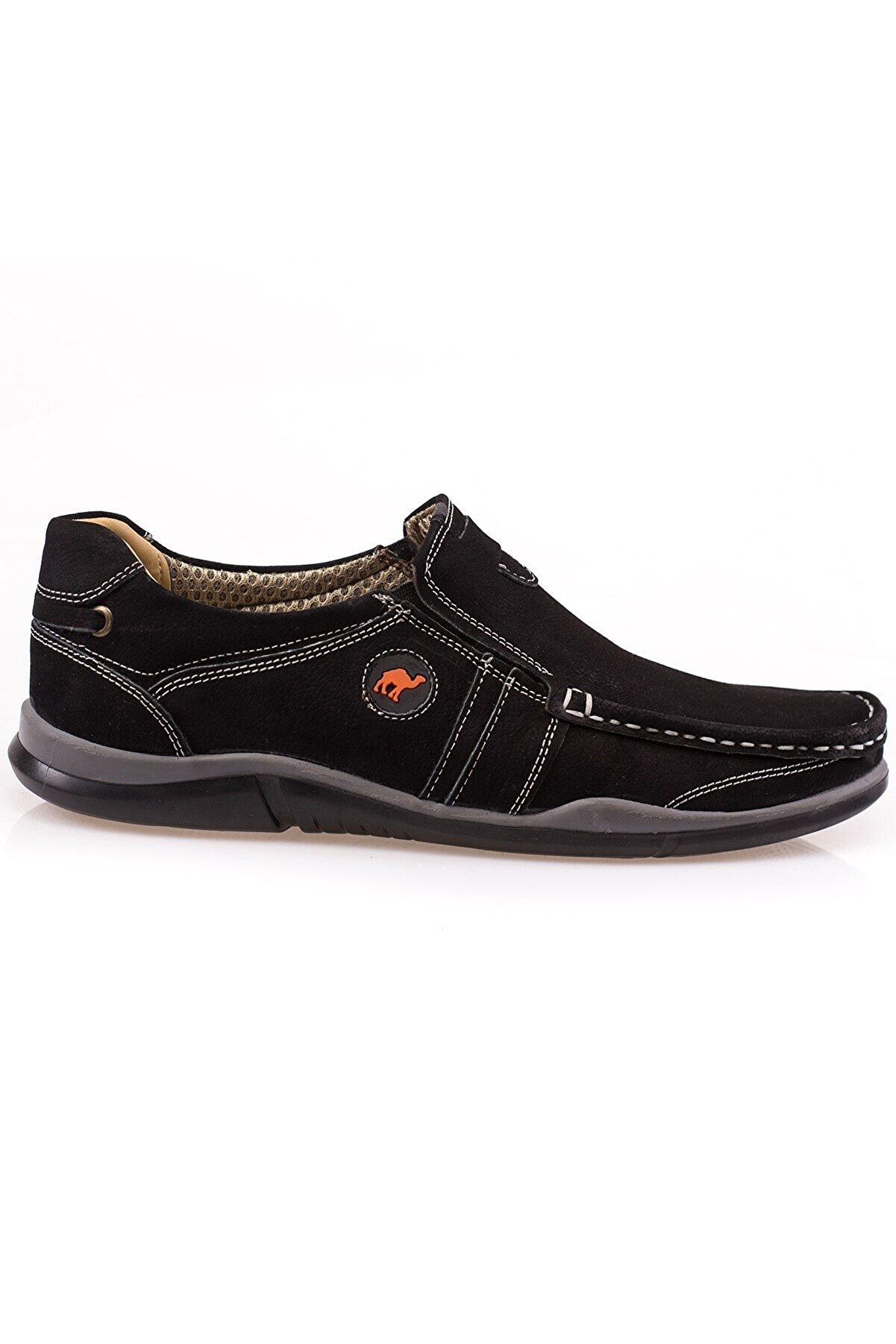 maximoda Erkek Siyah Hakiki Nubuk Deri Ortopedik Bağcıksız 3 Farklı Renkte Yazlık Ayakkabı