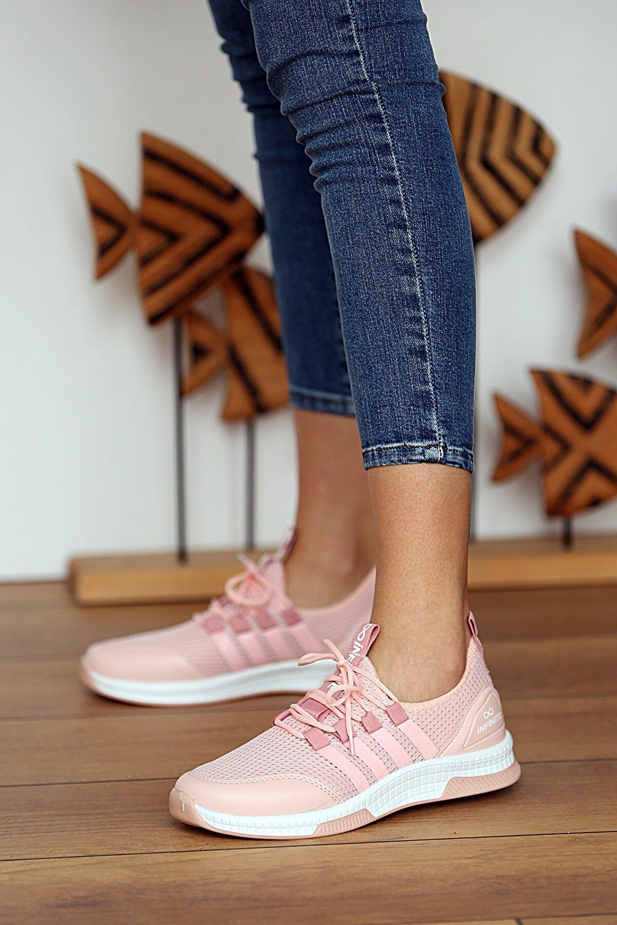 Pembe Potin Kadın Pudra Sneakers