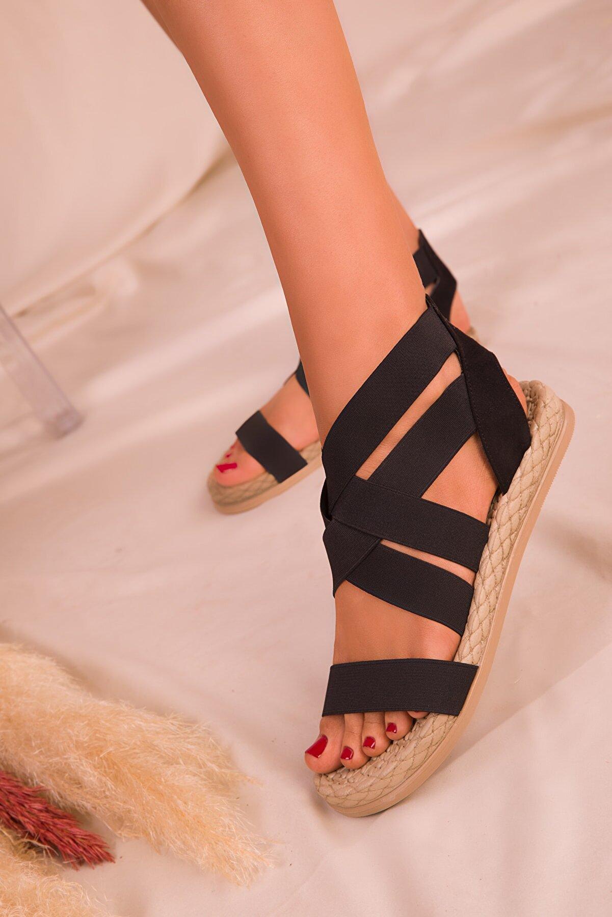 Soho Exclusive Siyah  Kadın Sandalet 16059
