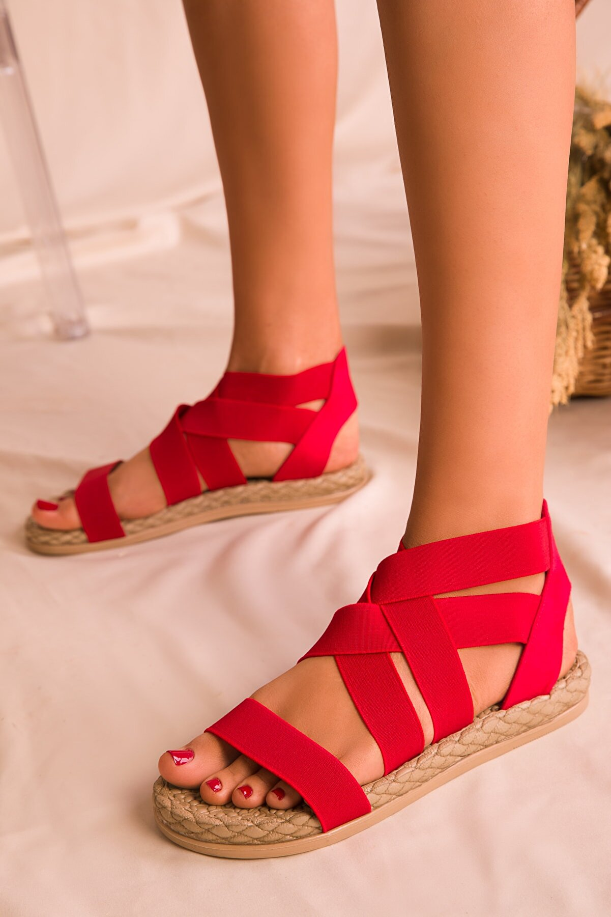 Soho Exclusive Kırmızı  Kadın Sandalet 16059