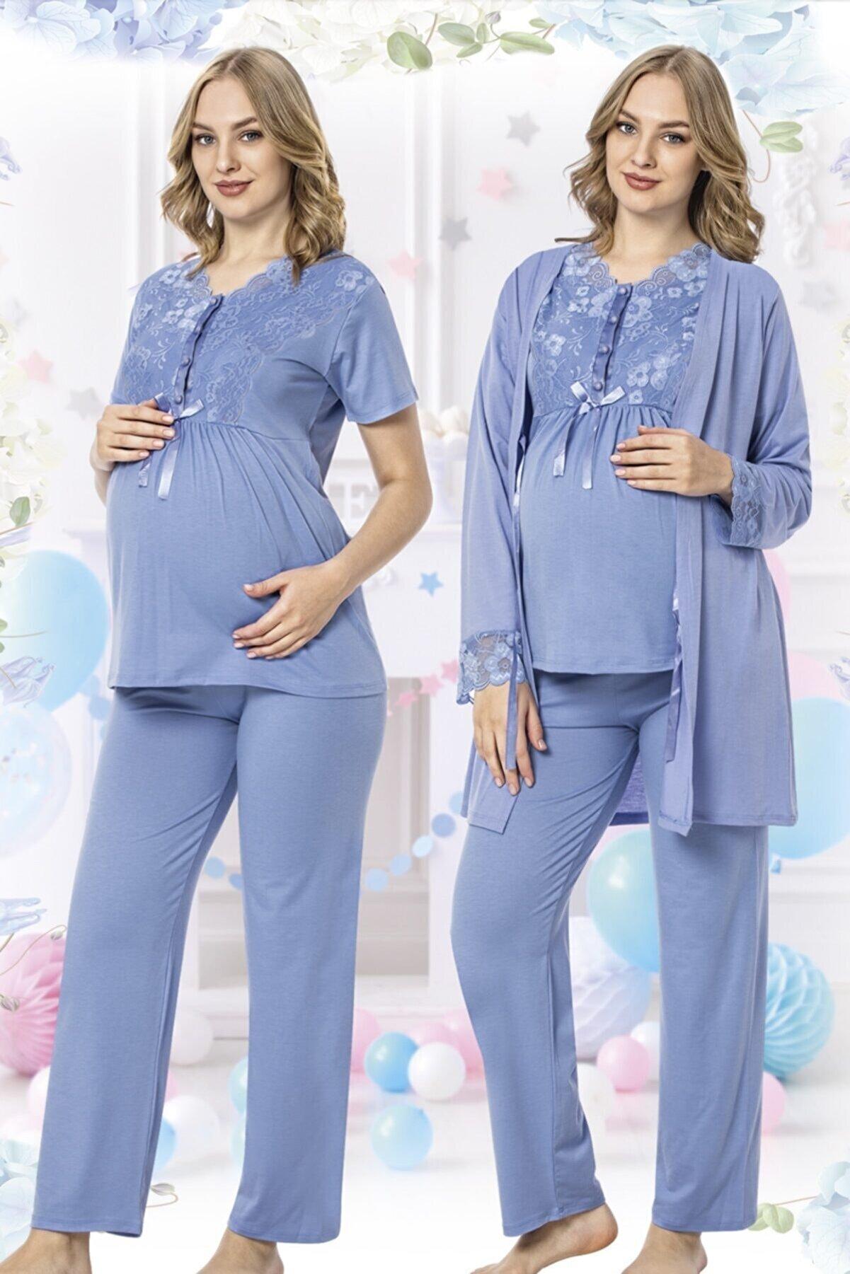 MODAREYA Kadın Üçlü Pijama Takımı