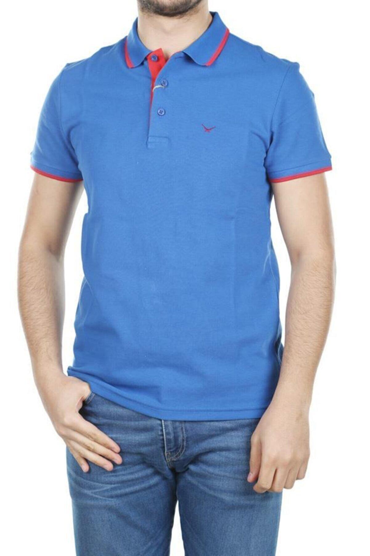 Cazador Erkek Mavi  Polo Yaka T-Shirt