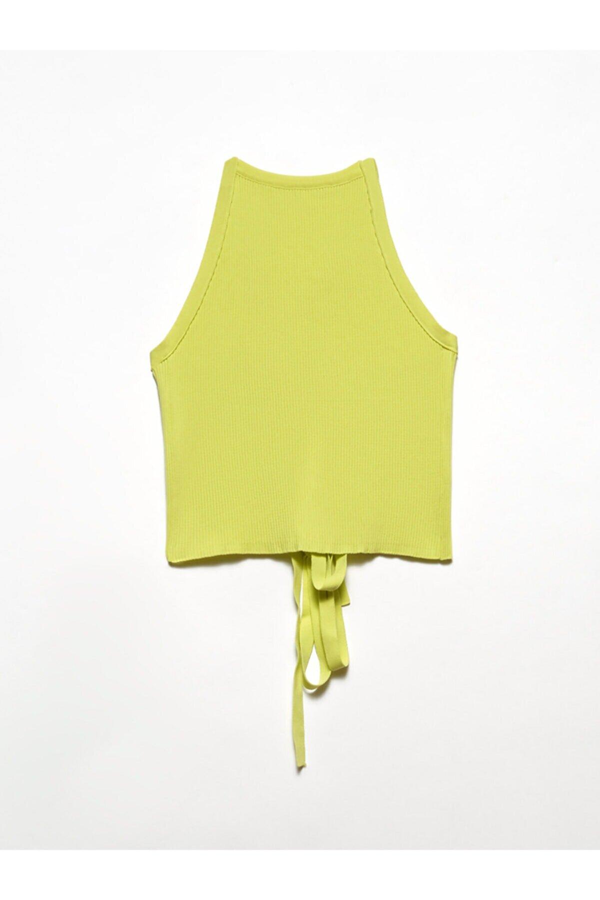 Dilvin Kadın Sarı Arkası Çapraz Askılı