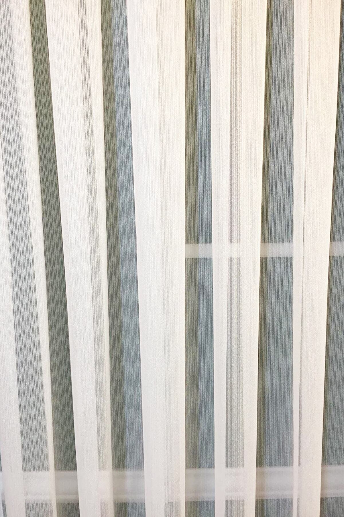 Linens 250x260 Doğa Perde Ince Çizgili 1 X 3 Pile Tül Perde
