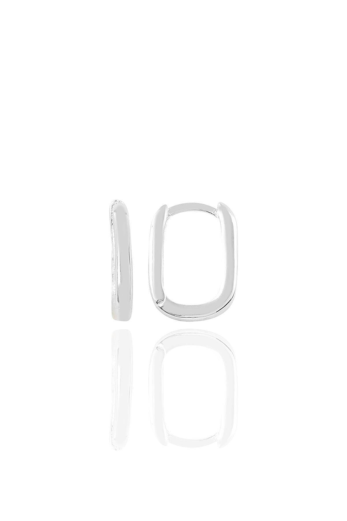 Söğütlü Silver Gümüş Rodyumlu Sade U Modeli Kupe